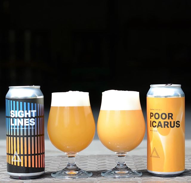 For this Friday in Fulton we will have the following new cans available:⁣ ⁣ ⟁ Poor Icarus 8% DIPA and finally the return is here. Throughout this beautiful orange can you will find notes of bright tropical guava and sticky pineapple. We aggressively hopped this with Vic Secret and El Dorado. $17.50 per 4 pack (1 case limit).⁣ ⁣ ⟁ Sight Lines 6% IPA - Our West Coast influenced IPA takes shape in this 6% ABV slightly hazy pale yellow pour. Both intentionally and intensively kettle and dry hopped at various points in its life with Simcoe, Citra and Chinook. This beer delivers citrus, tangerine, melon, and a firmly crisp pine like finish. Born out of the need for something dryer and less yeast focused than usual, we're excited to offer a hoppy beer that branches off into its own territory. $14 per 4 pack.
