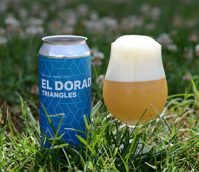 El Dorado ⟁'s IPA - The angular reference to the notion that nearly all things come in threes returns with one of our favorite newer school varietals – El Dorado.  We detect notes of pineapple, pulpy oranges, with tropical-esque apricot peach tones with that forever reliable Triangles grist composition ensuring maxed out plushness.  Constructed to 6% ABV for your emerging summer consumption. $14 per 4-pack (1 case limit) this Friday in Fulton.