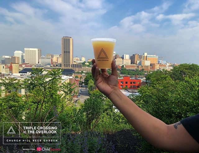 Tomorrow's TC Beer Garden is RAIN or SHINE and we will have a 20x20 tent in case we see a few showers throughout the day. This event will benefit Child Savers which will graciously be letting us use their beautiful space (200 N 22nd St., Richmond, VA) that overlooks the Richmond Skyline. We will be pouring beer on their outdoor patio from 12-6pm on Saturday, June 1st. Triple Crossing favorites like Falcon Smash IPA will be available alongside several other Triple Crossing beers and a brand new release just for the event. A portion of all proceeds from the event will go to benefit the ChildSavers. This is a free event to attend and everything will be sold by the pour.⁣ ⁣ Music:⁣ Matt Henry - DJ Chenchilla (@djchenchilla) + BillyCrystalFingers⁣ ⁣ Food Trucks:⁣ Intergalactic Tacos⁣ (@intergalactictacos) Happy Empanada⁣  Kudzu⁣ (@kudzurva) Spotty Dog Ice Cream Co. (@spottydogrva)