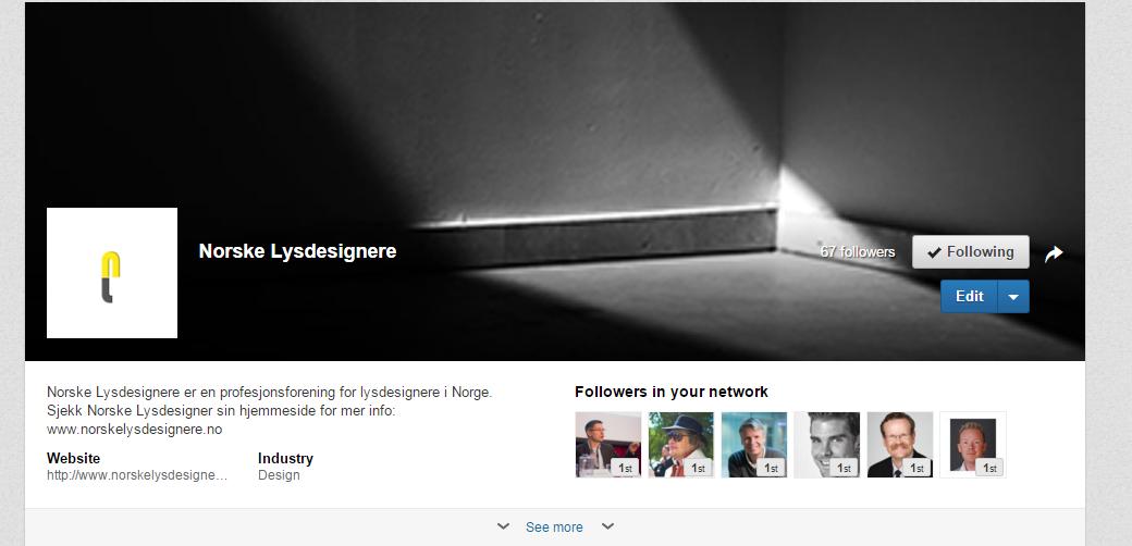 Følg oss på LinkedIn.  Sjekk ut her