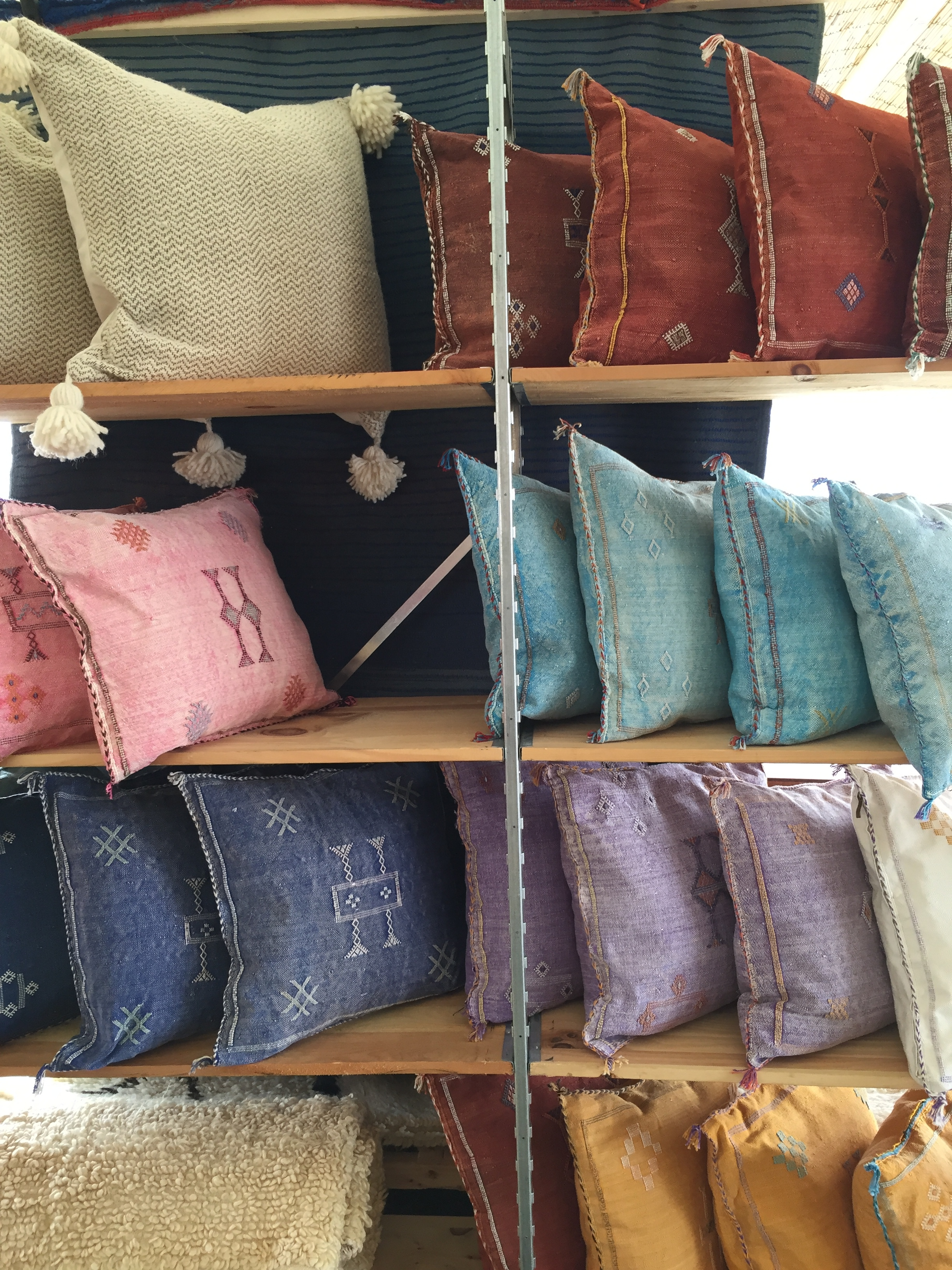 I loved these Moroccan inspired pillows from  Heja Home .