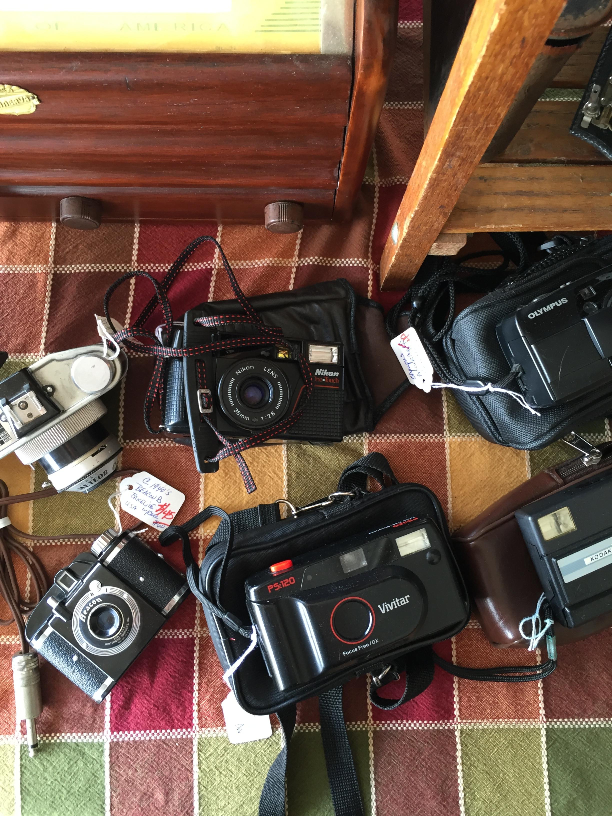 Old film cameras.