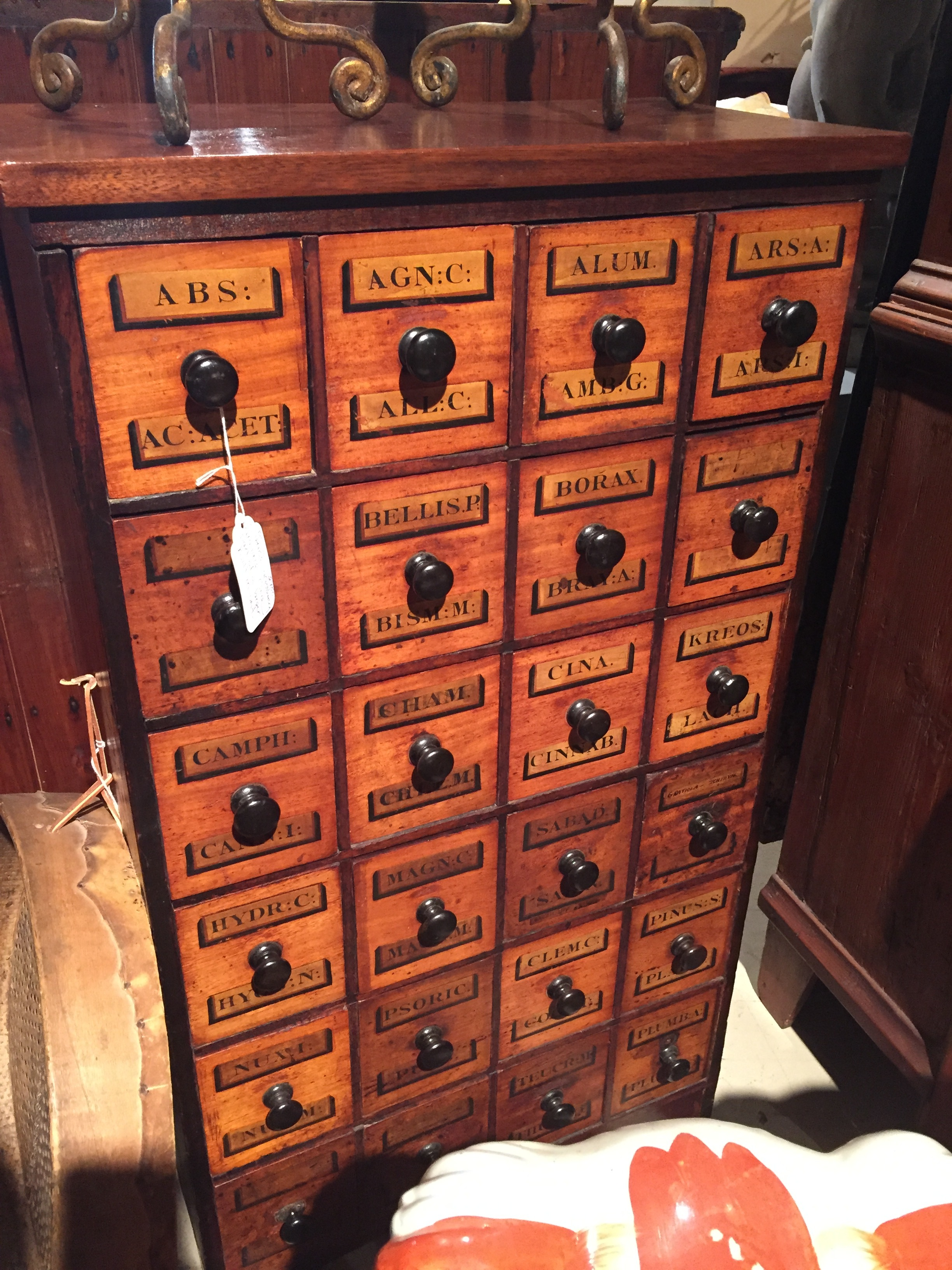 This antique apothecary cabinet was super cool - a great place to store little odds and ends.