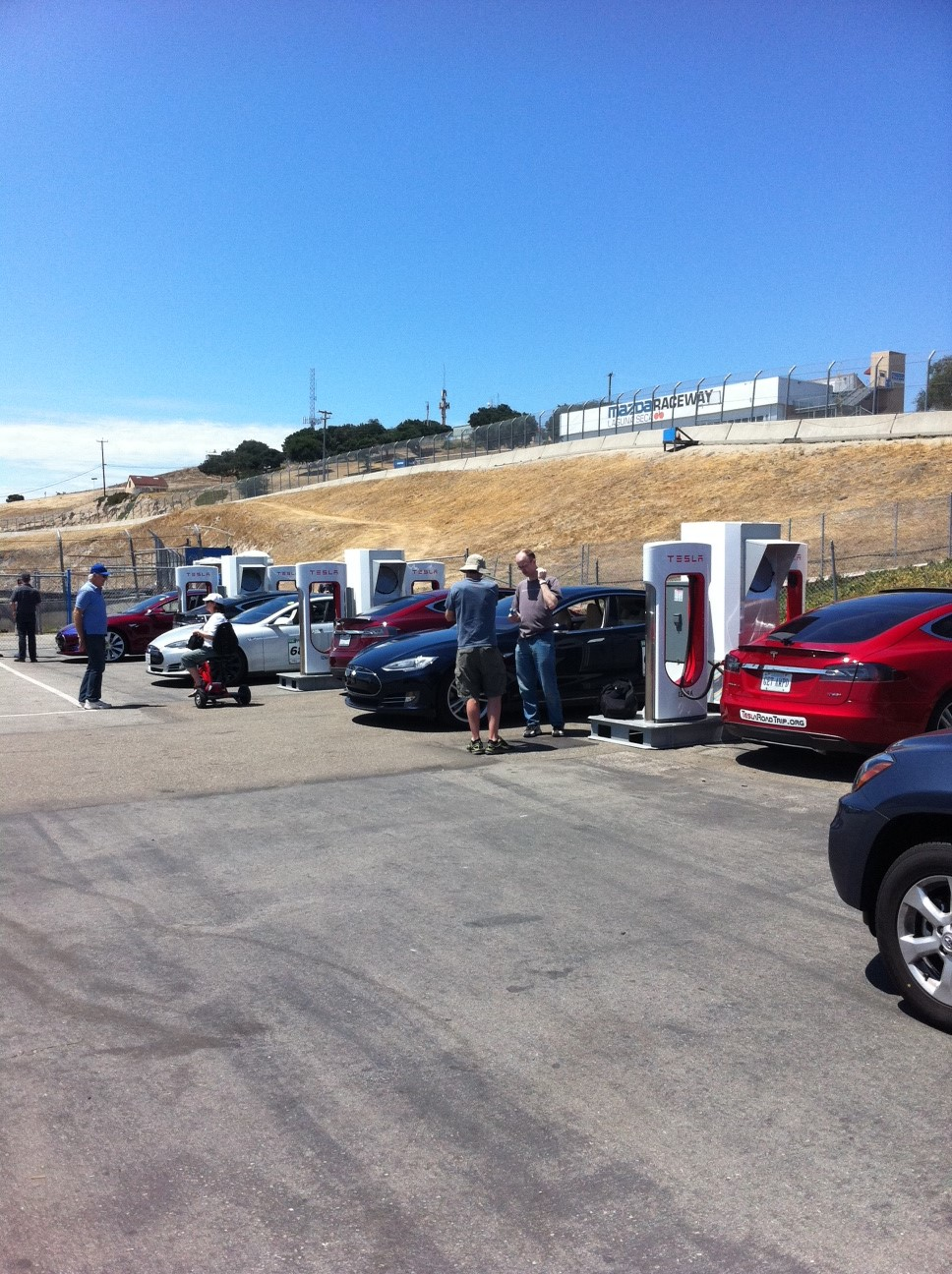 The event included over 35 Teslas which charged via the on-site Tesla Superchargers.