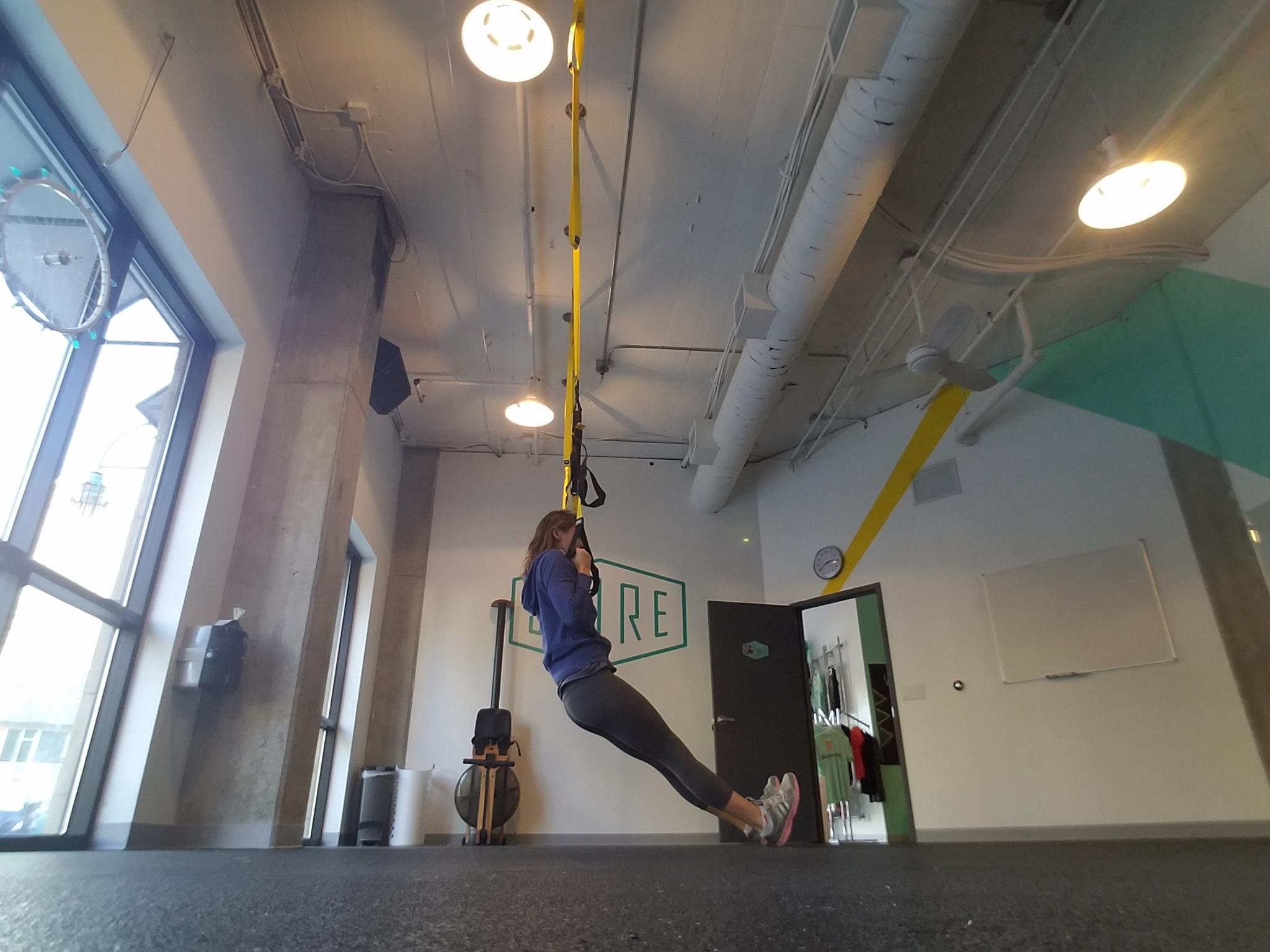 Move feet further away from body to make more challenging.