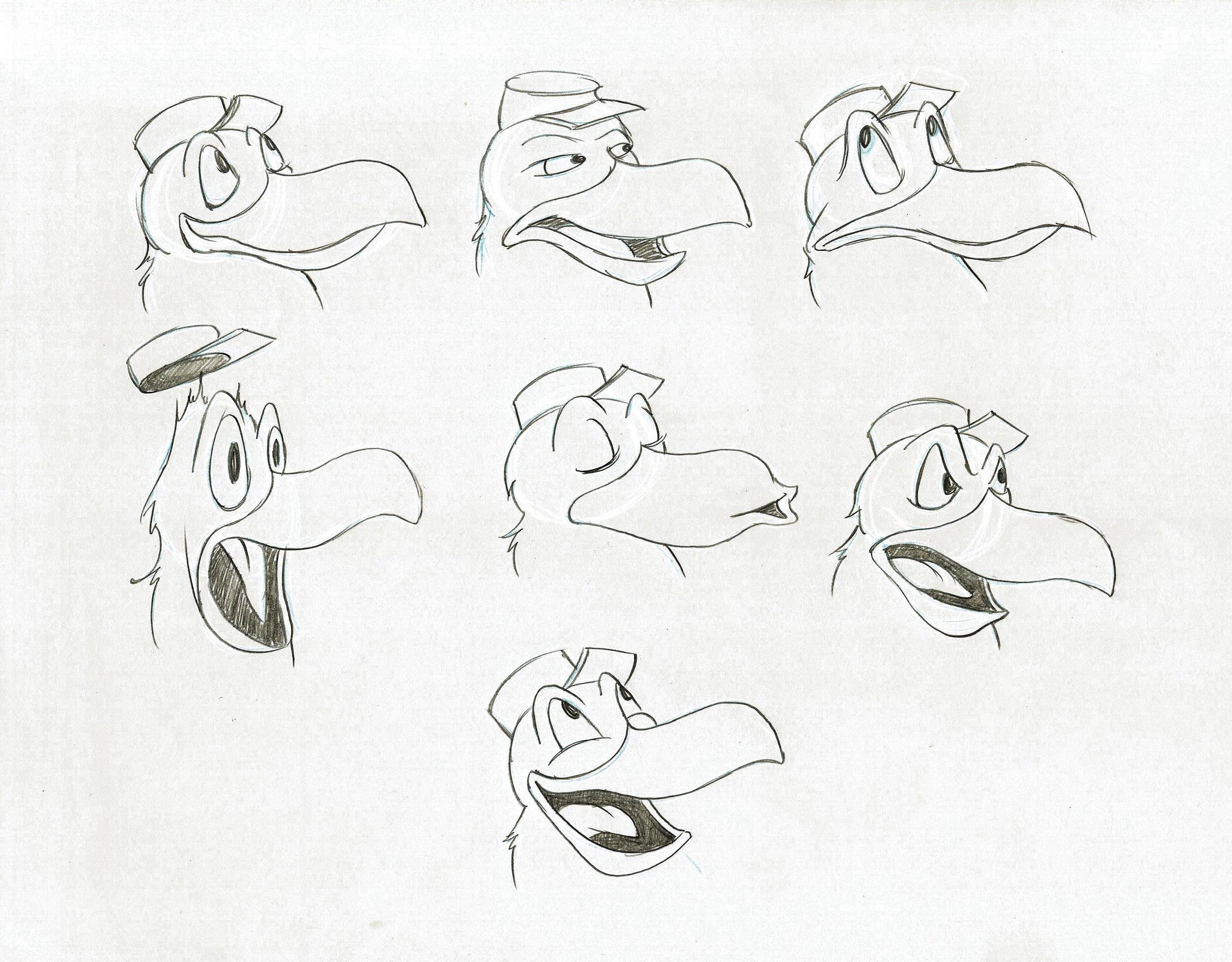 Raven expression sheet by Tom Bertino.