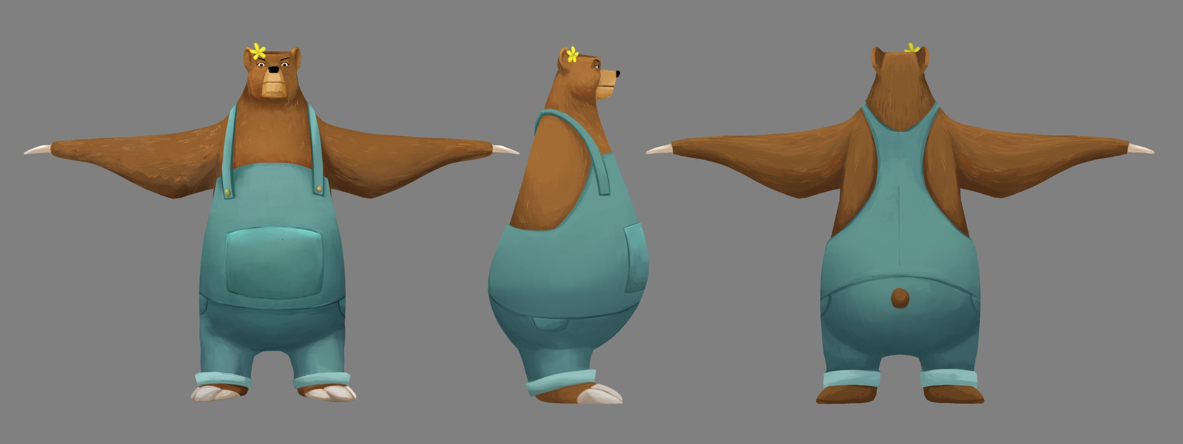 Mama Bear character design by Abigail Munoz, 3D Model by Ariadna Nussberg, texture paintover by Cindy Lee.