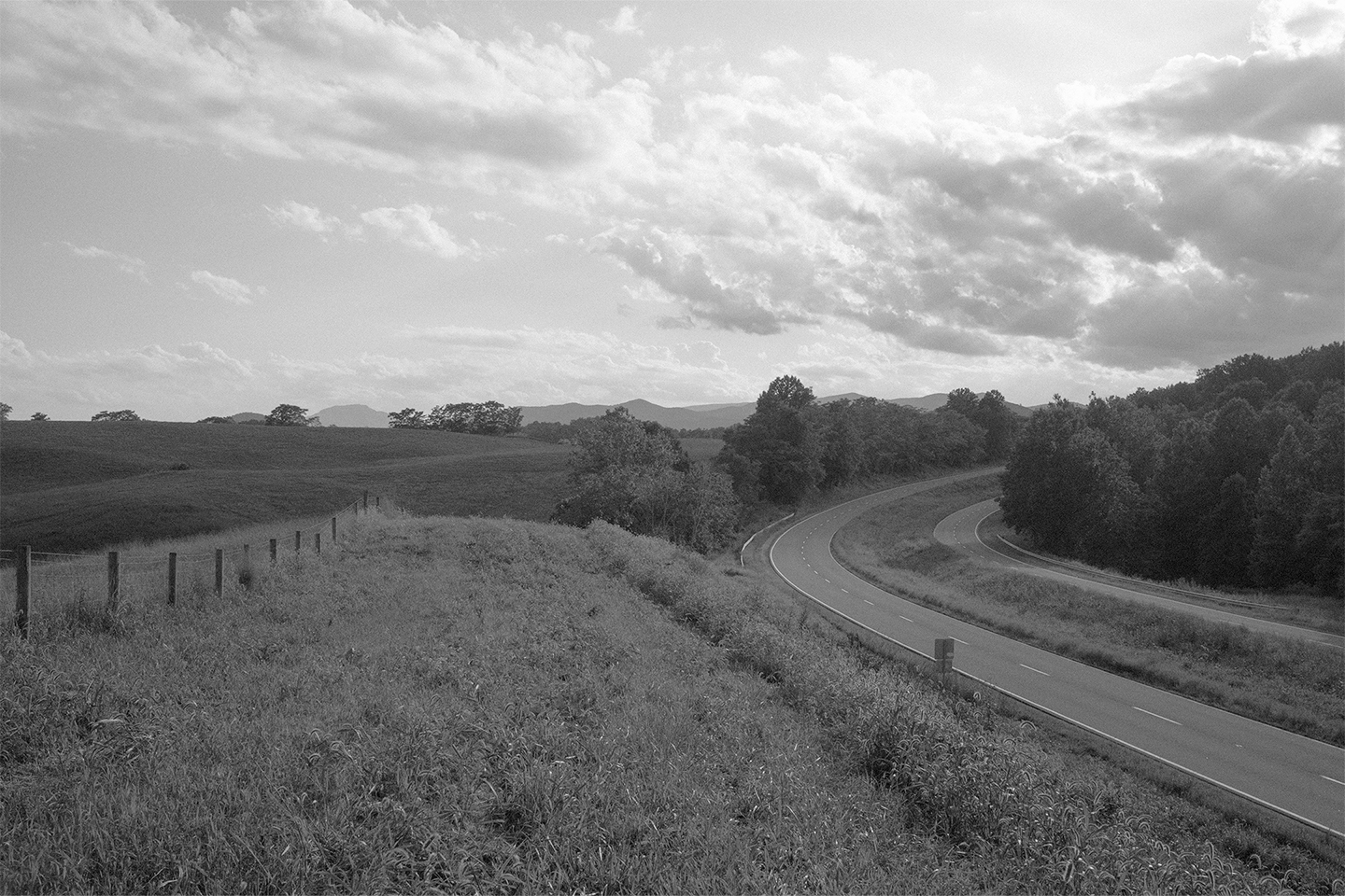 Looking west on Rt. 211.  Rappahannock County, Virginia.  2014.