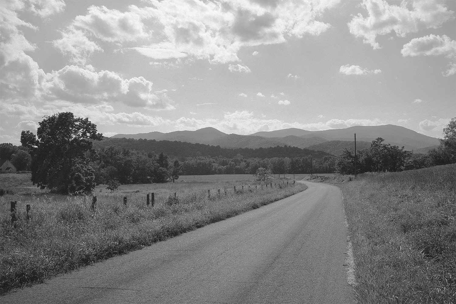 Looking west from Fletchers Mill.  Rappahannock County, Virginia.  2014.