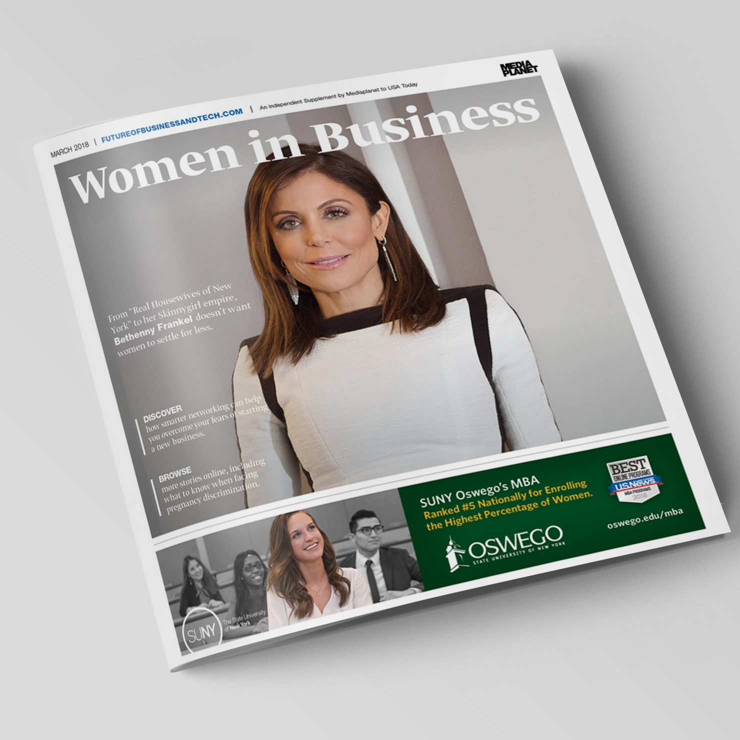 "Mediaplanet's March 2018 ""Women in Business"" feat. Bethenny Frankel"