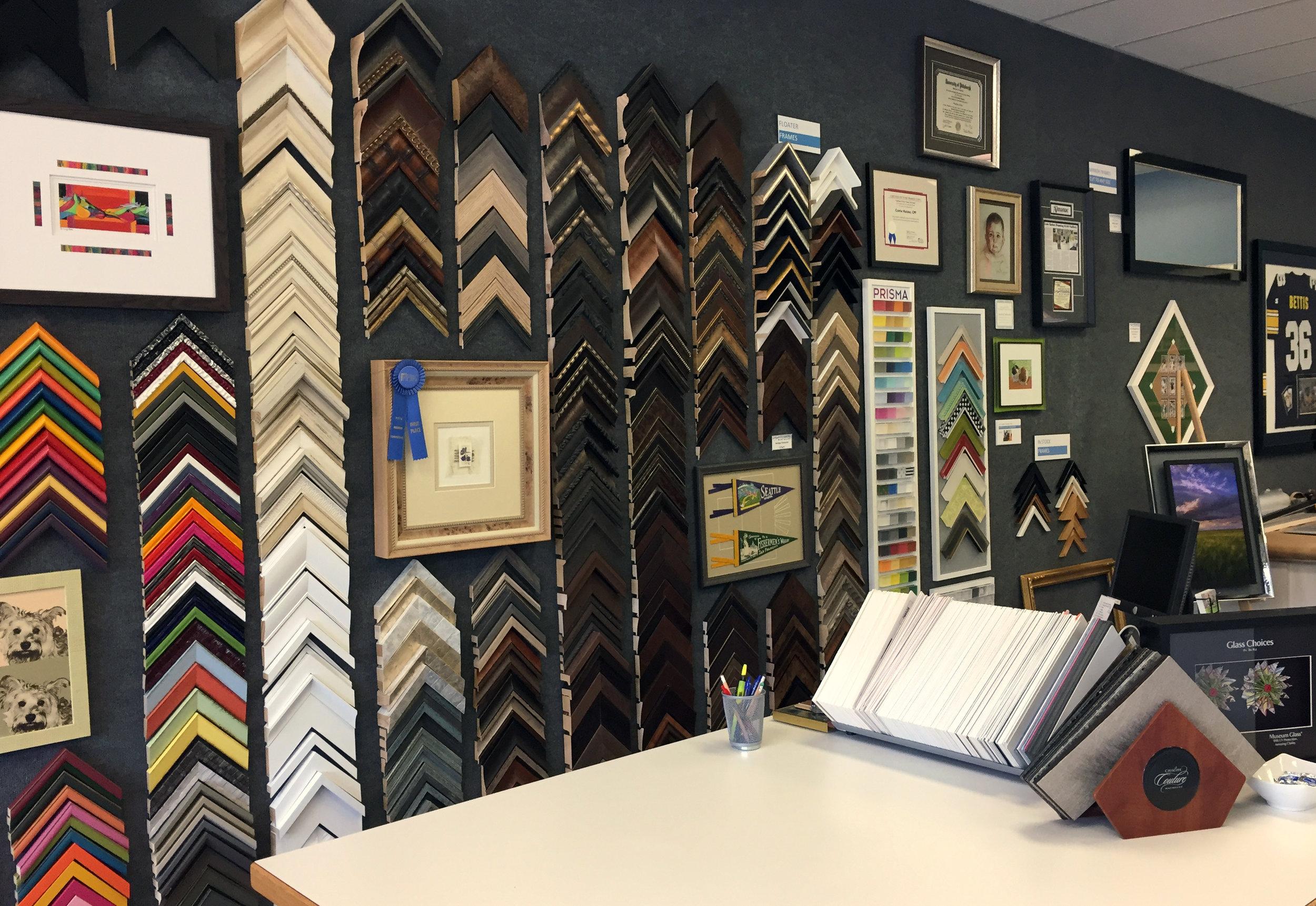Lois Guinn Framing frame samples