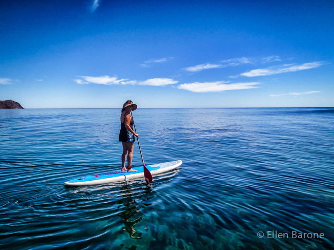 Stand up paddle boarding, Sea of Cortés.
