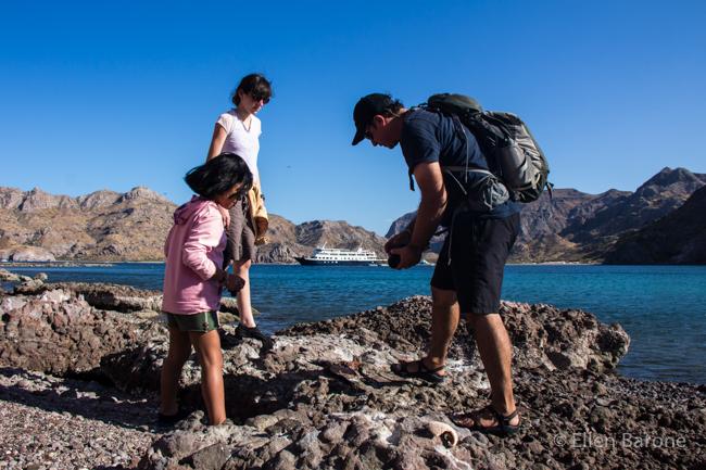 Exploring tide pools, Sea of Cortés.