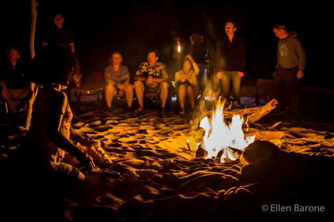 Beach bonfire, Sea of Cortés,