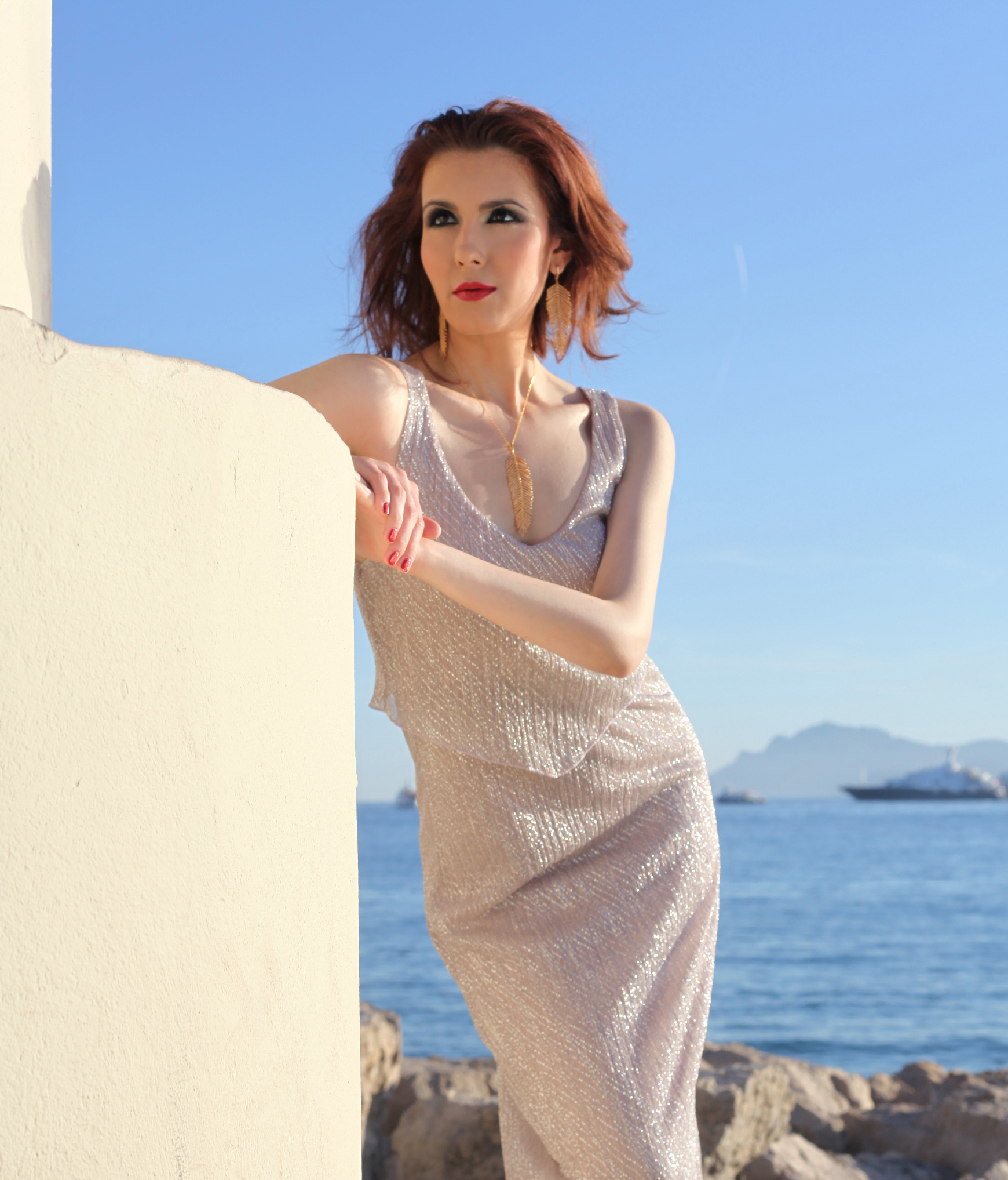 Cannes Promenade Photo Shoot... Grecian Column 2