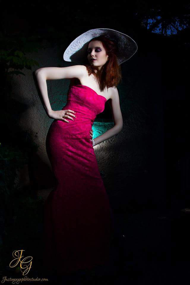 French Riviera Falicon Photo Shoot... Magenta Jane Norman Dress 1