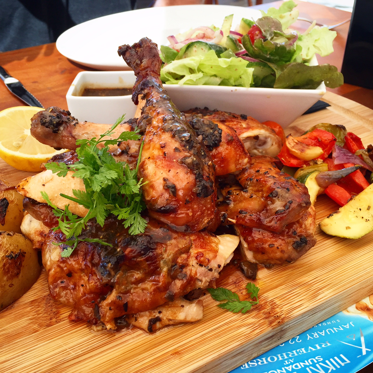 Chicken for days at Nikki Beach, St. Barth's