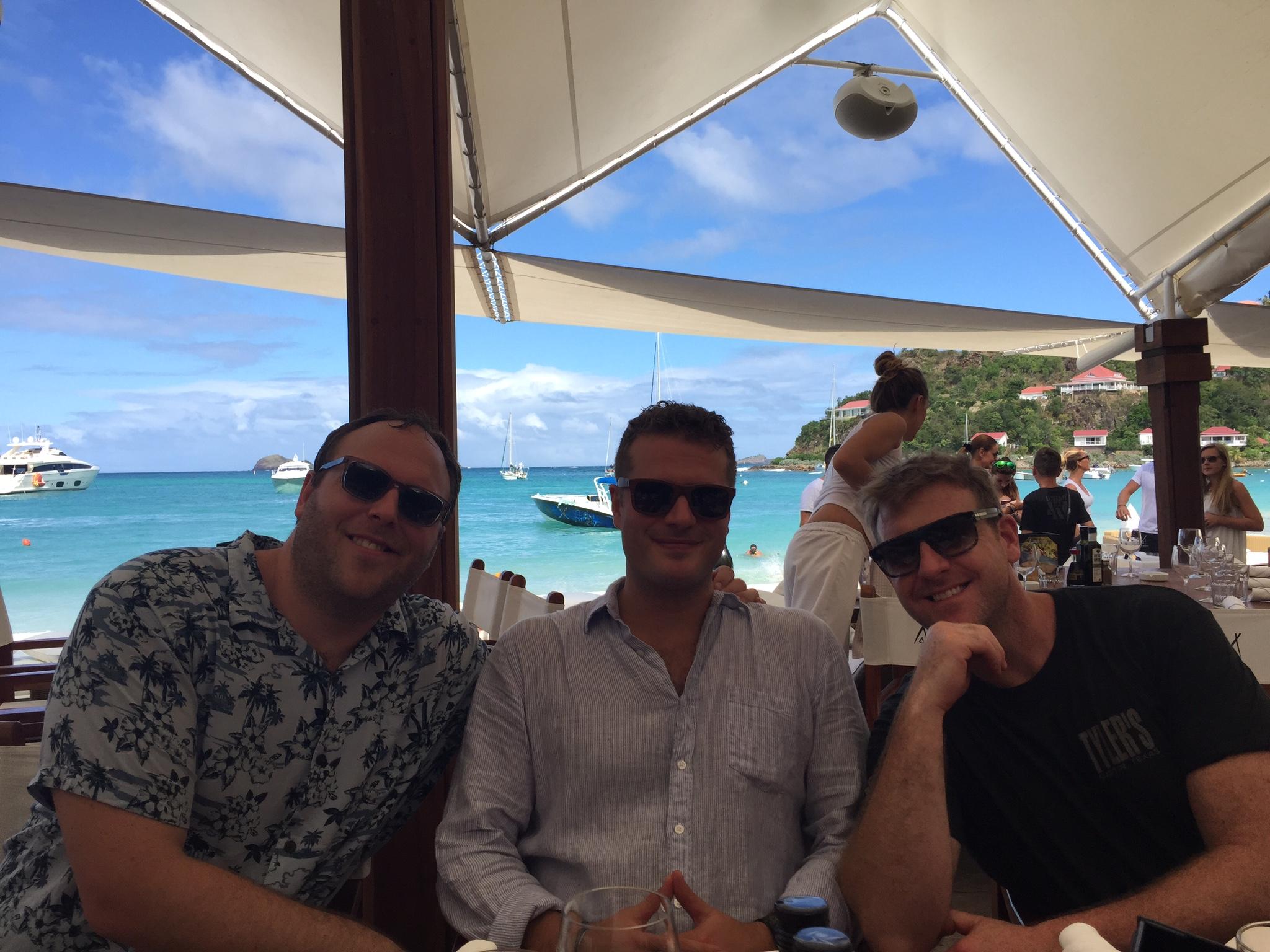 Da Boyz... Ben, Jay, and Zach... paradise at their backs.