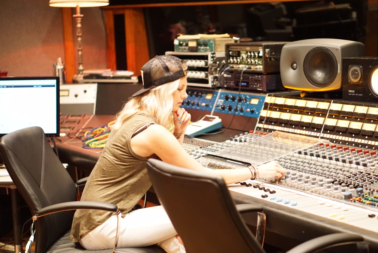 Me getting to touch history at Arlyn Studios