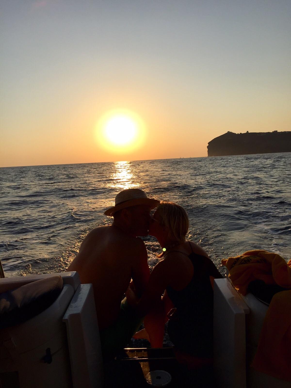 I mean... sunset in Santorini...if that's not romantic...