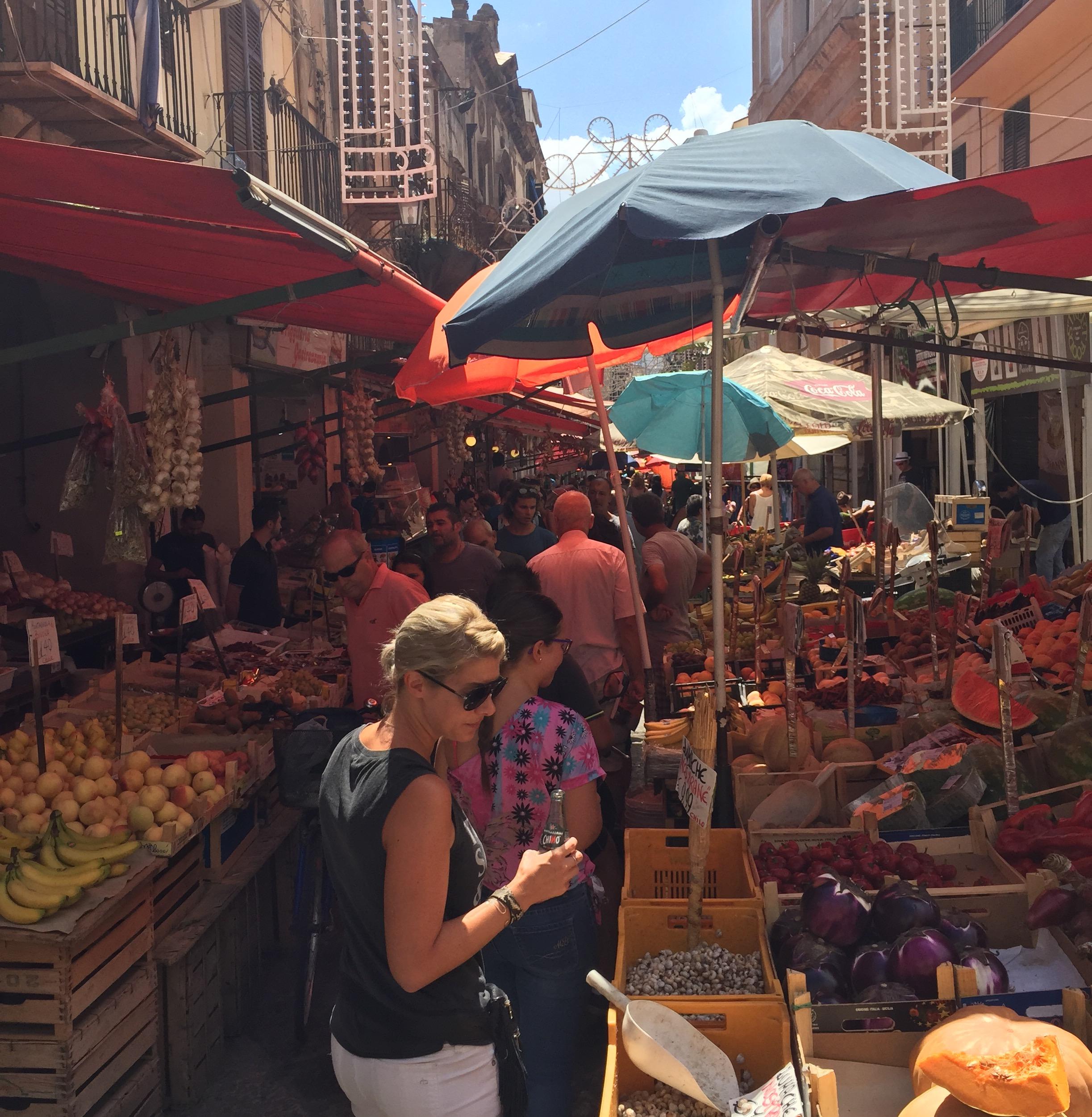 The Capo market in Palermo