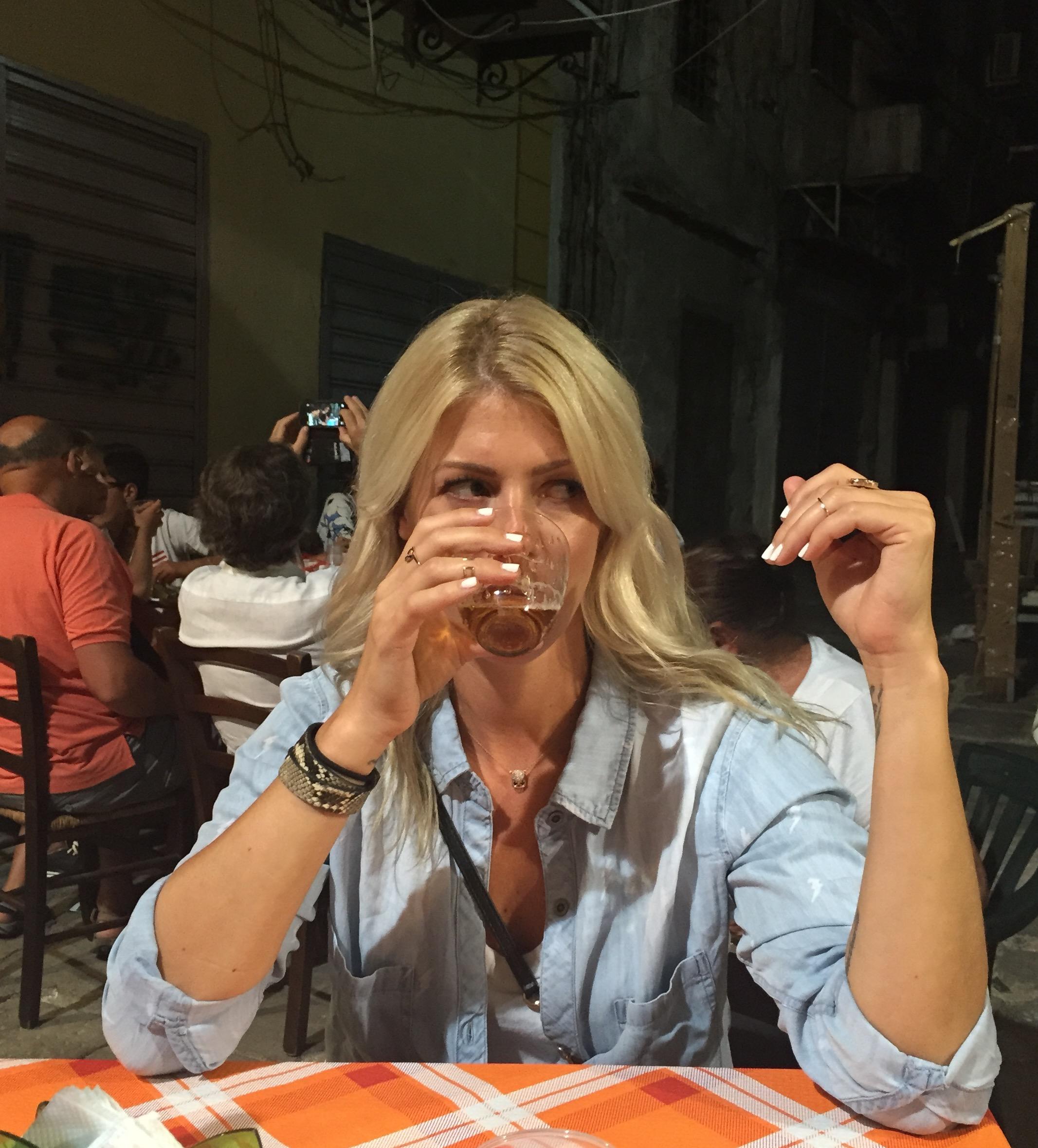 Drinking a birra in the Vucciria
