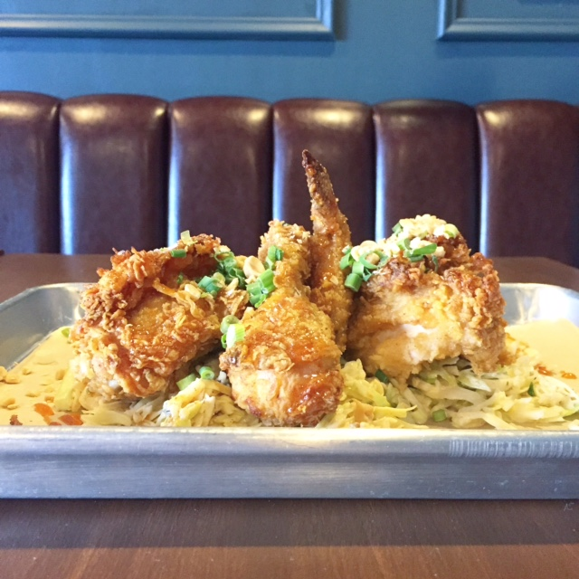 Outstanding Asian inspired fried chicken at Little Tart in nearby Korea Town.