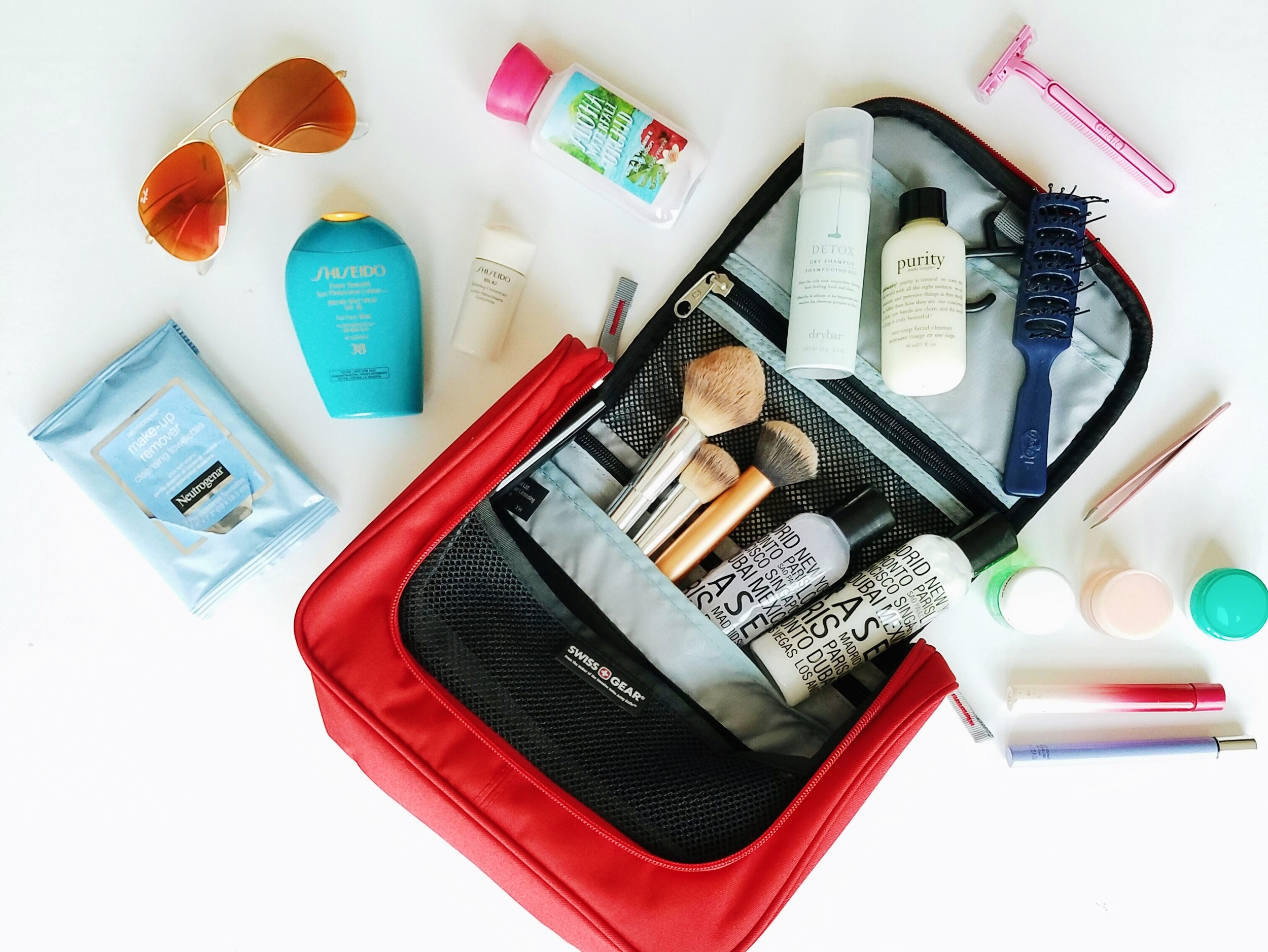 This hanging toiletry kit is the most practical I've ever owned. I cannot believe how much it can hold and it's not bulky. It's sleek style allows me to fit it in any carry on I have.