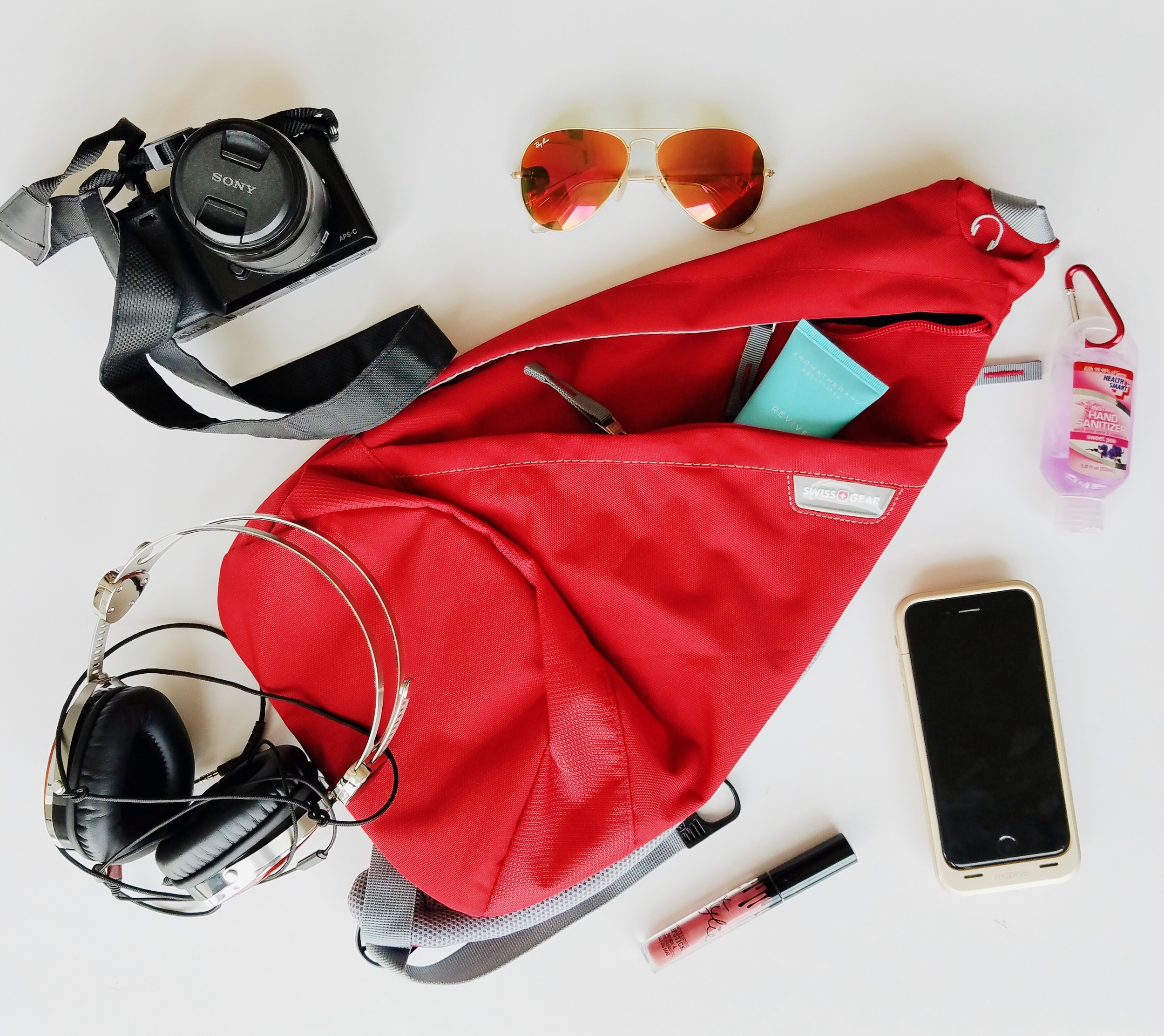 This Triangle Sling Bag is perfect for all travel. It keeps your valuable essentials close to your body but also easily accessible.
