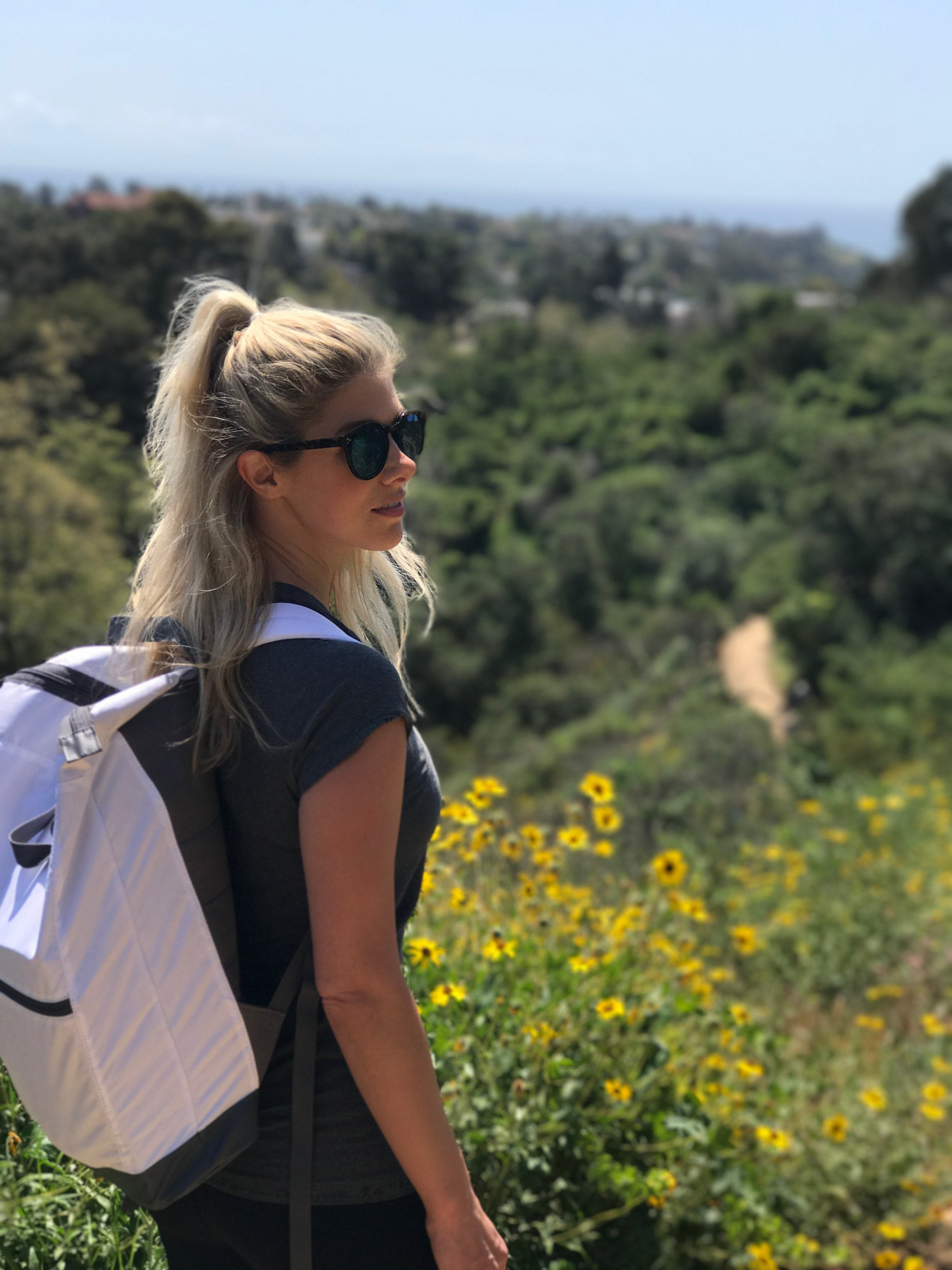 I'm hiking Temescal Canyon to get to one of the most scenic viewpoints in all of LA. Of course, I've got my Bota Box in my backpack and it was so easy and convenient bringing it up to the top of the mountain.