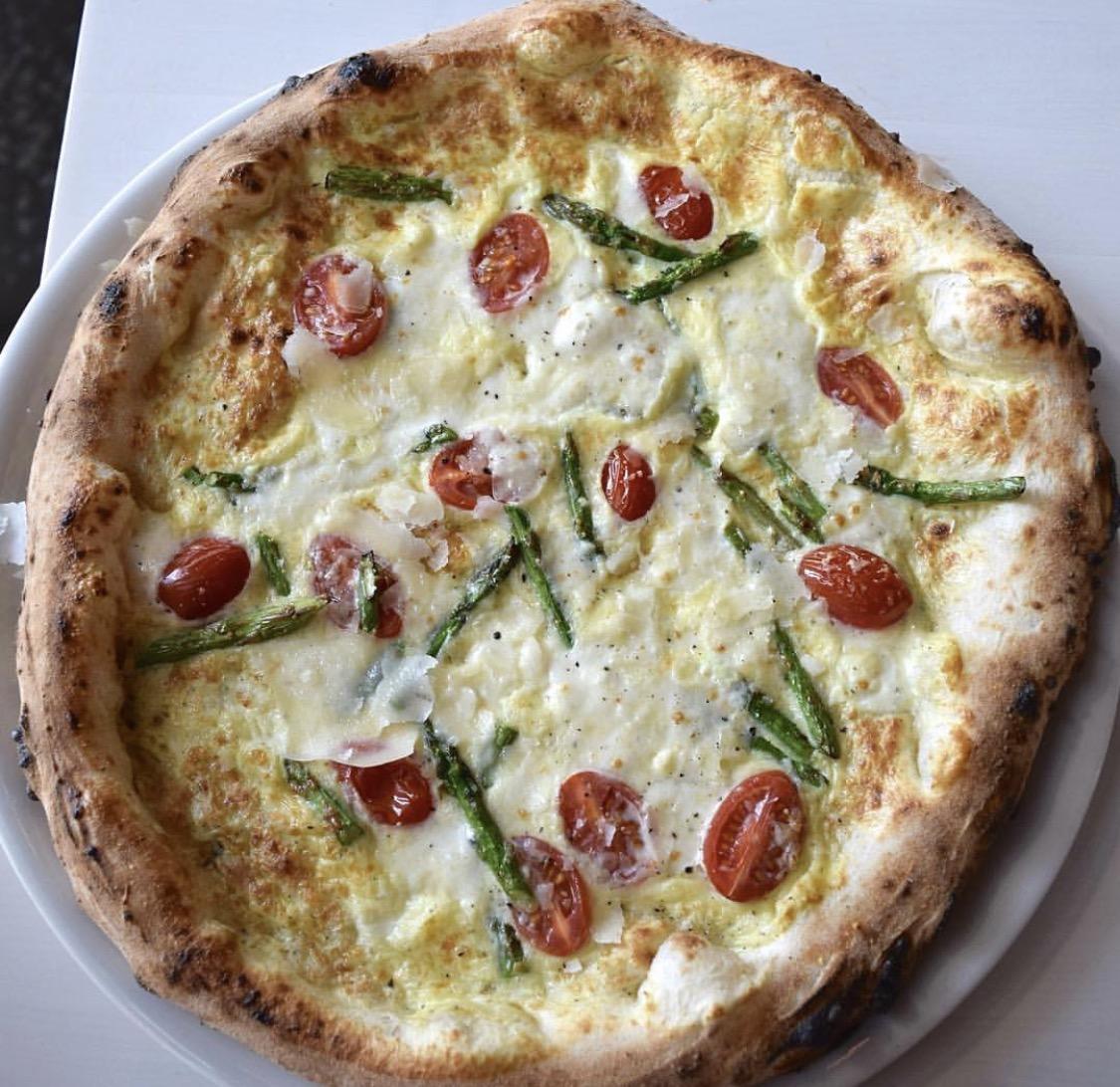 Breakfast pizza courtesy of Forno Rosso Pizzeria's Instagram