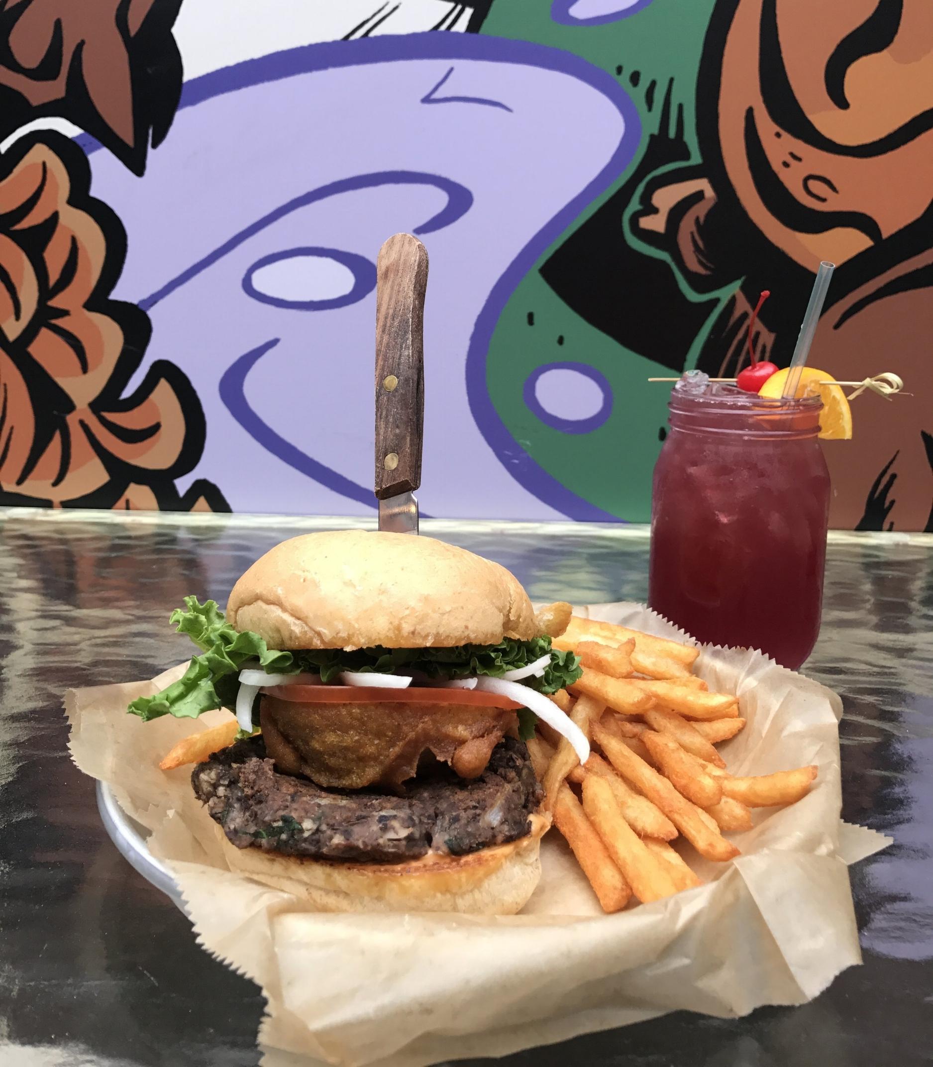 Vegan Burger at Stella's Lounge