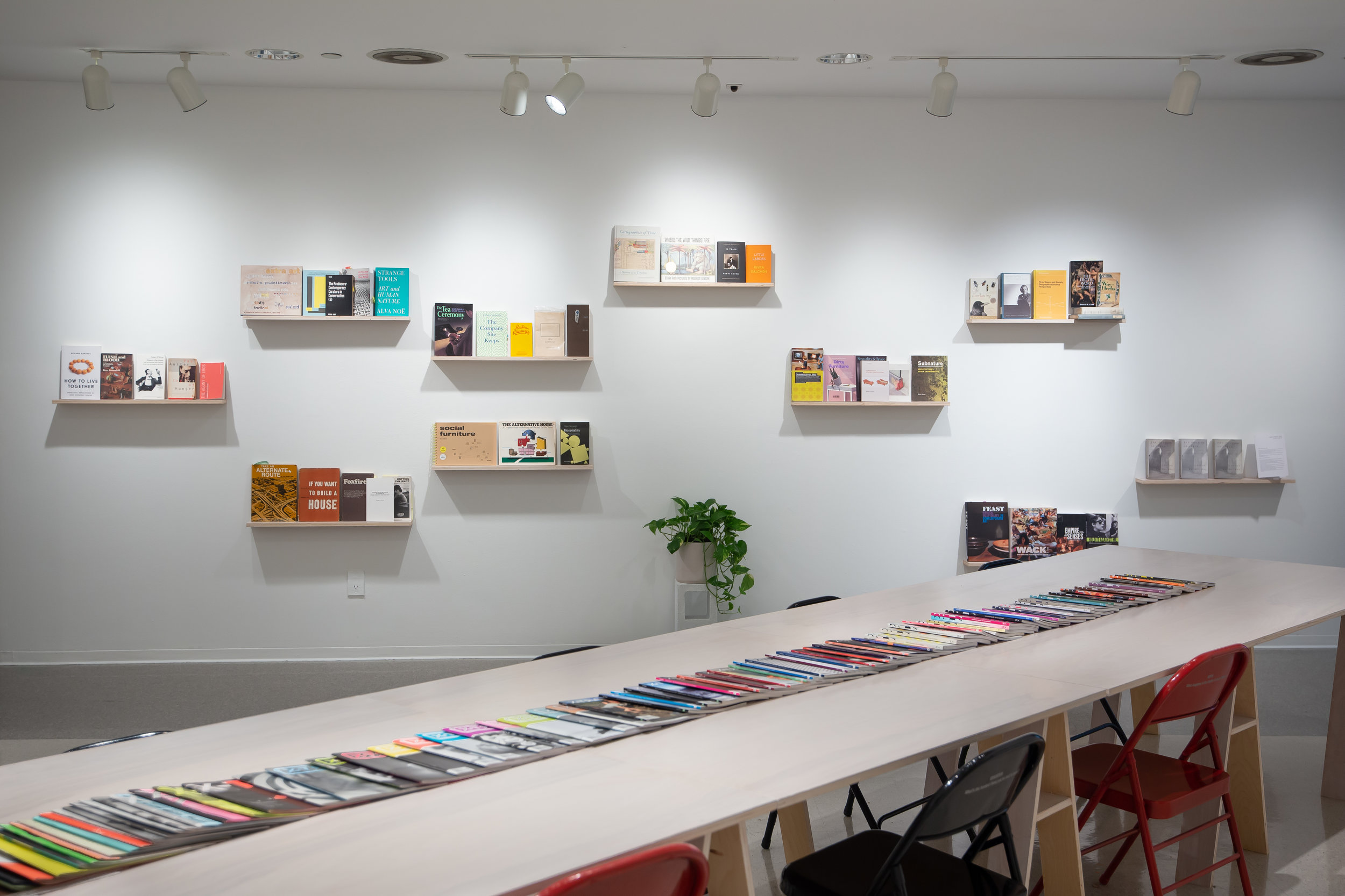 BOOKSHELVES | 1050 N Mills Ave , Installation at Pitzer College Art Galleries, Claremont CA, 2019