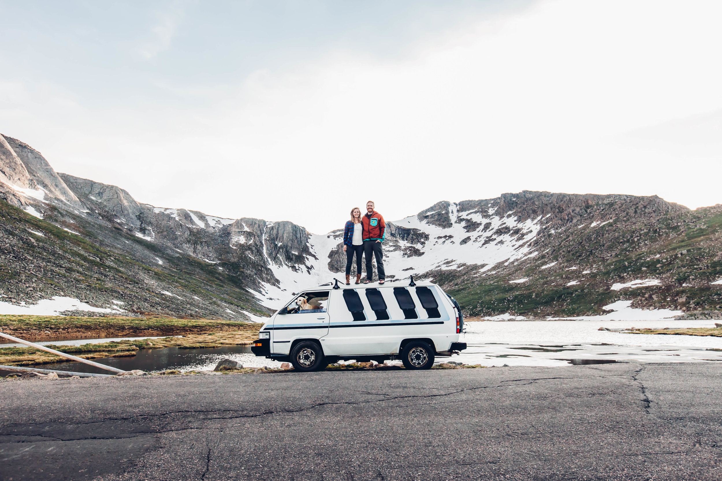 Kathleen and Greg live full time out of their camper and use their van, Right Lane Rhino, for longer road trips.