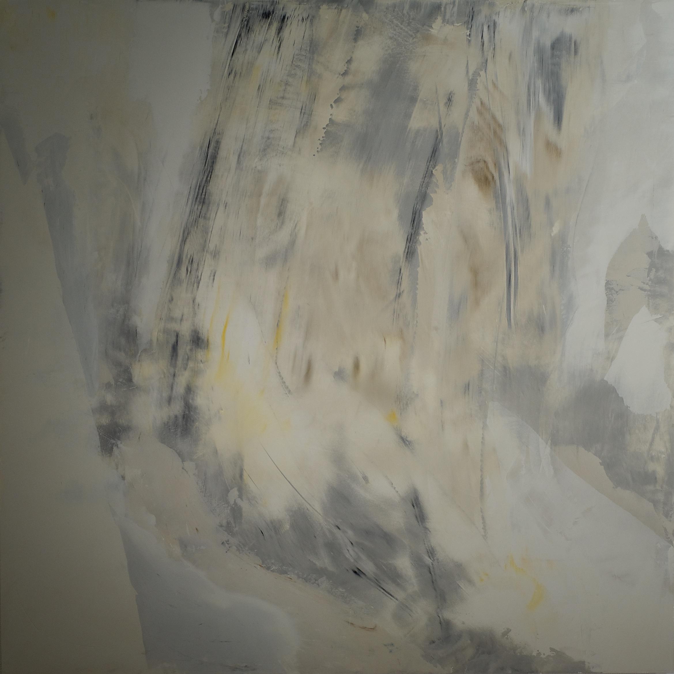 "MOVING SHADOWS, fresco on panel 36""x 36"" (91cmx 91cm) 2015"