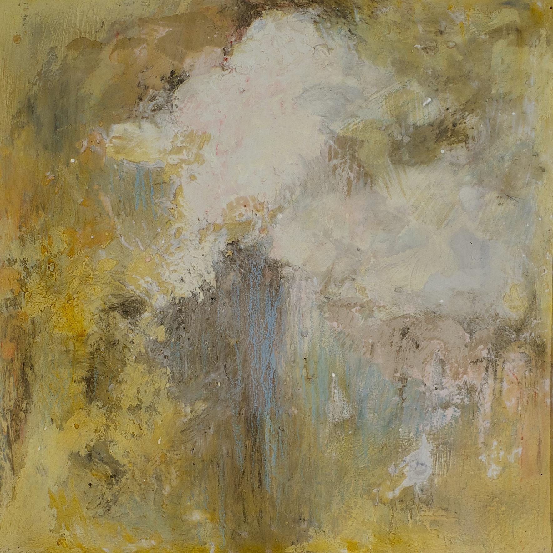 "CLOUDFALL SOLD fresco on panel 6""x 6"" (15cm x 15cm) 2015"