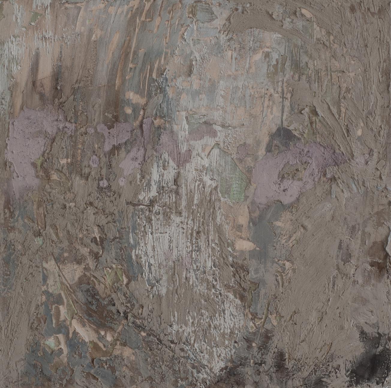 """SETTLING, fresco on panel 16""""x 16"""" (40cm x 40cm) 2015"""