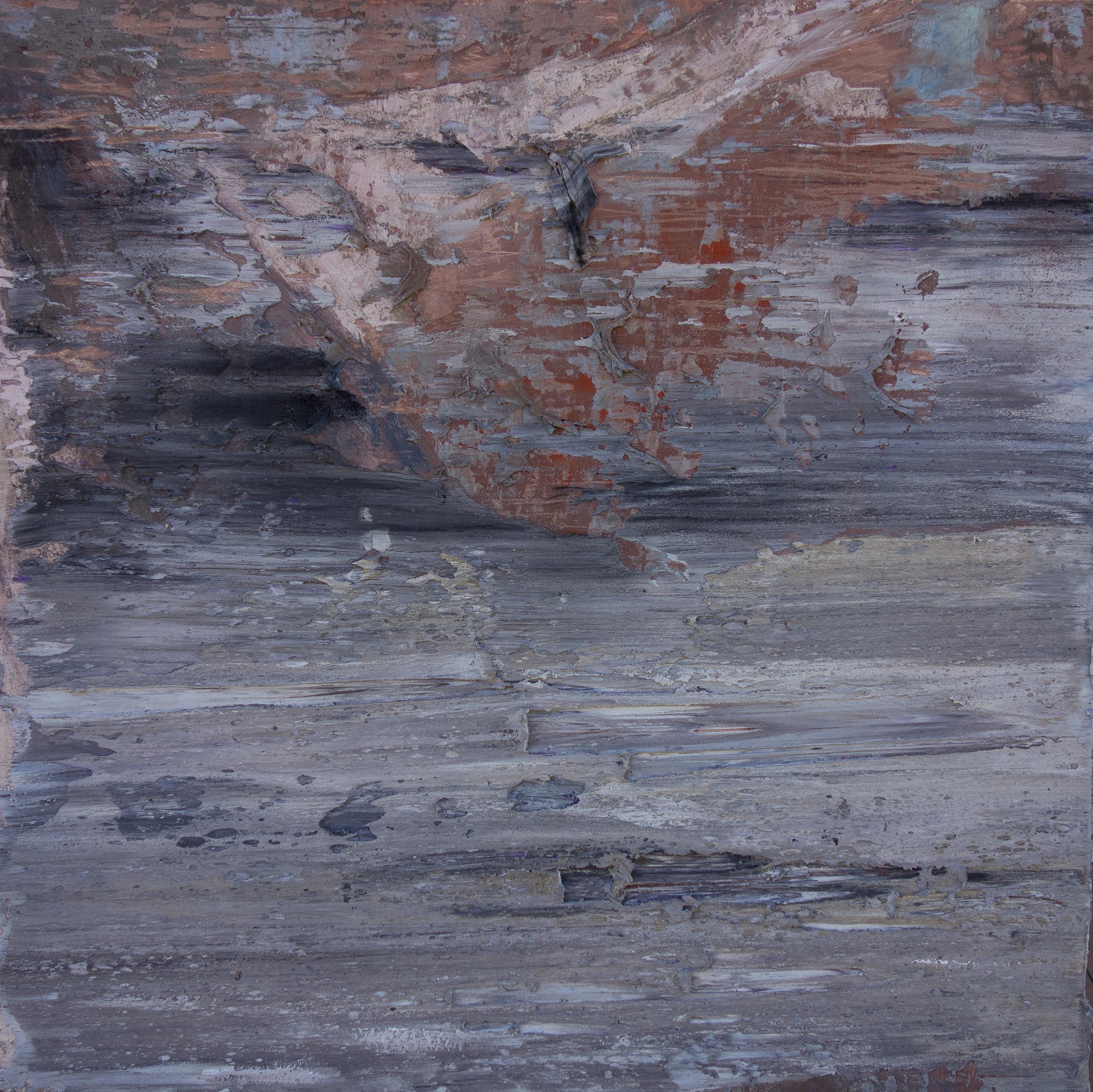 "TIMEKEEPING 3, fresco on panel 16""x 16"" (40cm x 40cm) 2015"
