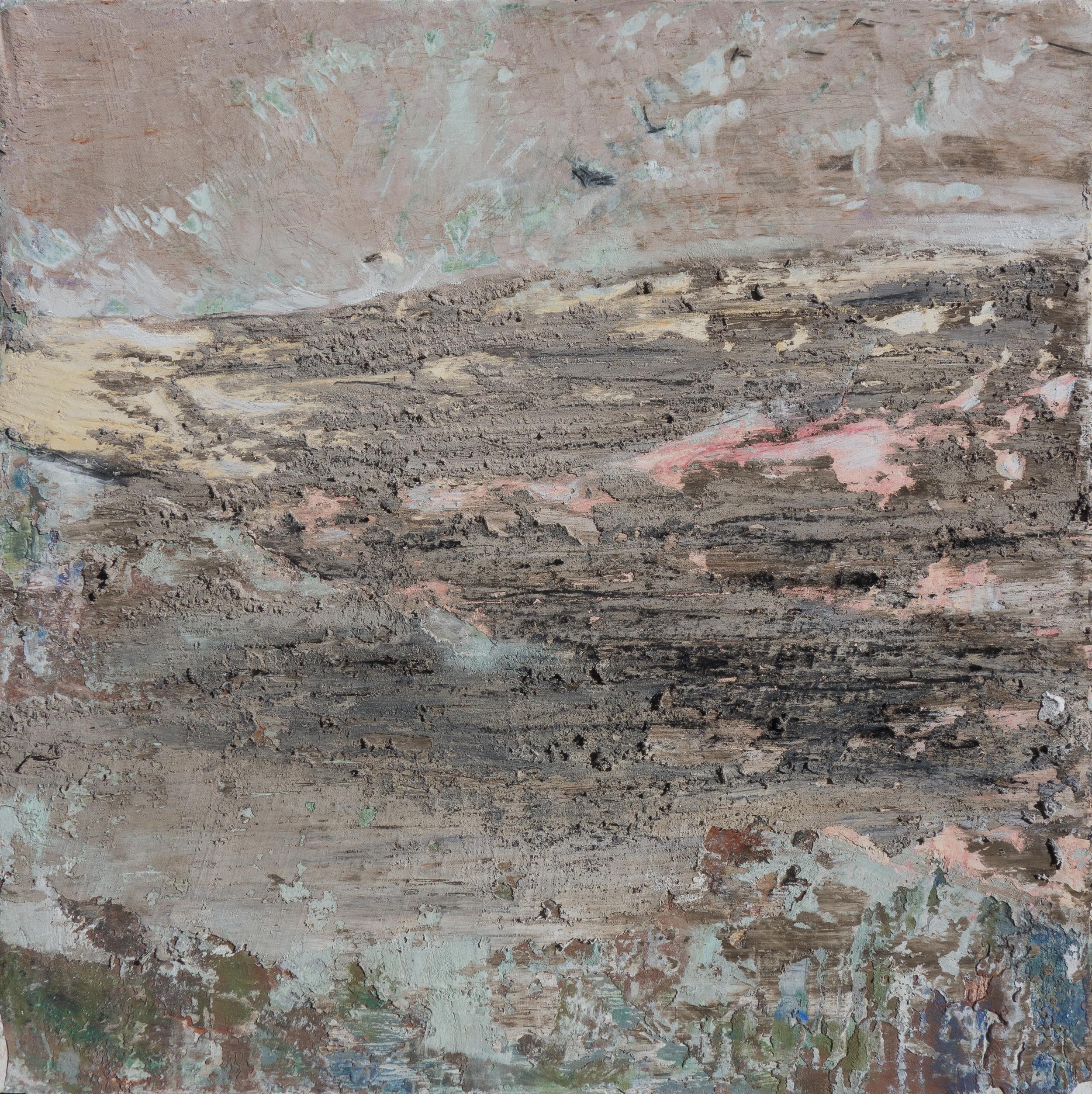 "TIMEKEEPING 5, fresco on panel 16""x 16"" (40cm x 40cm) 2015"