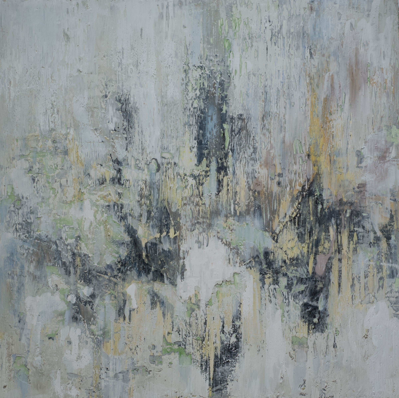 "BRUSHED ON (sold) fresco on panel 36""x 36"" (91cm x 91cm) 2015"