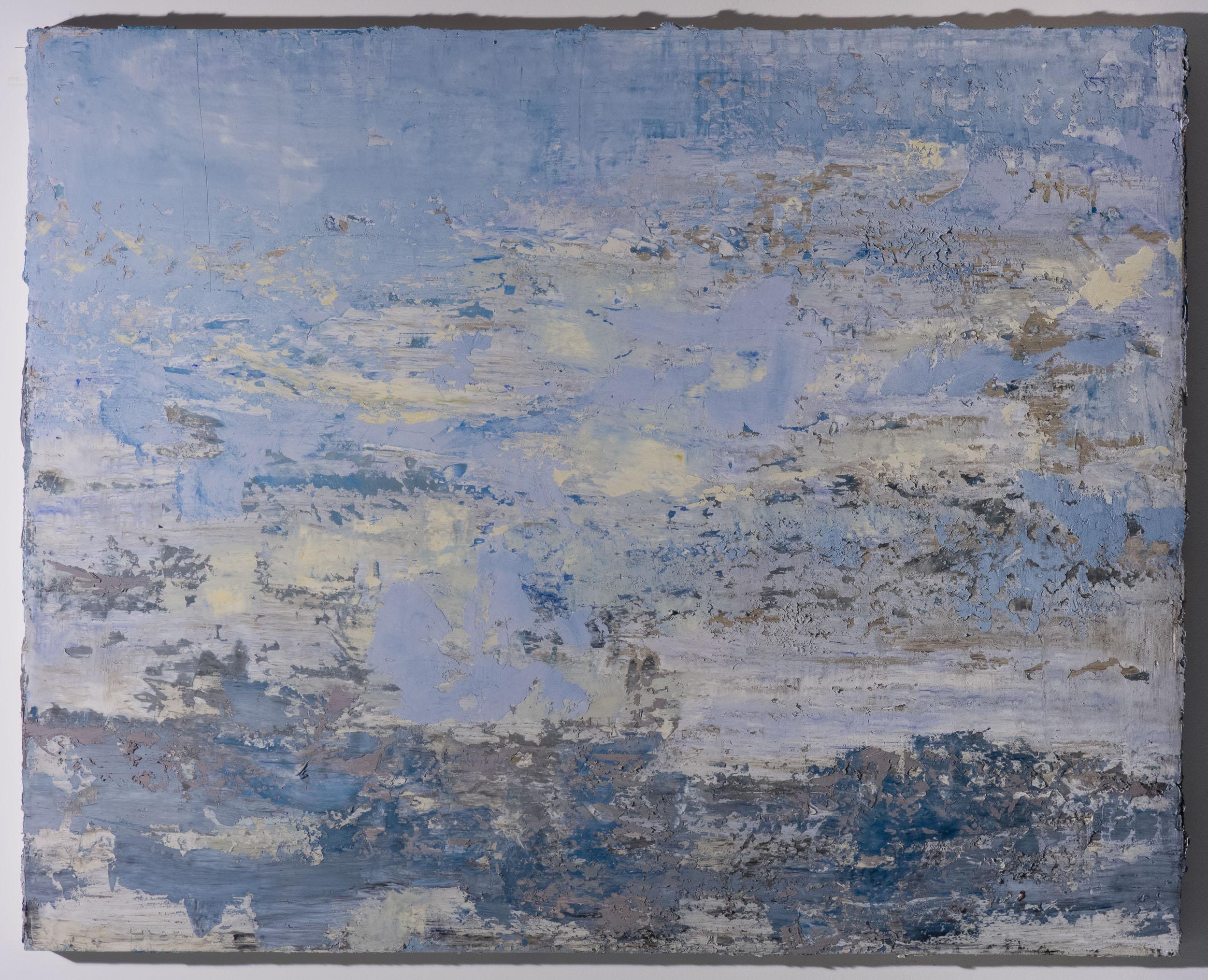 Shelley Vanderbyl - Palimpsest (Side Light) - 2016 - Fresco on Panel - 48x60.jpg
