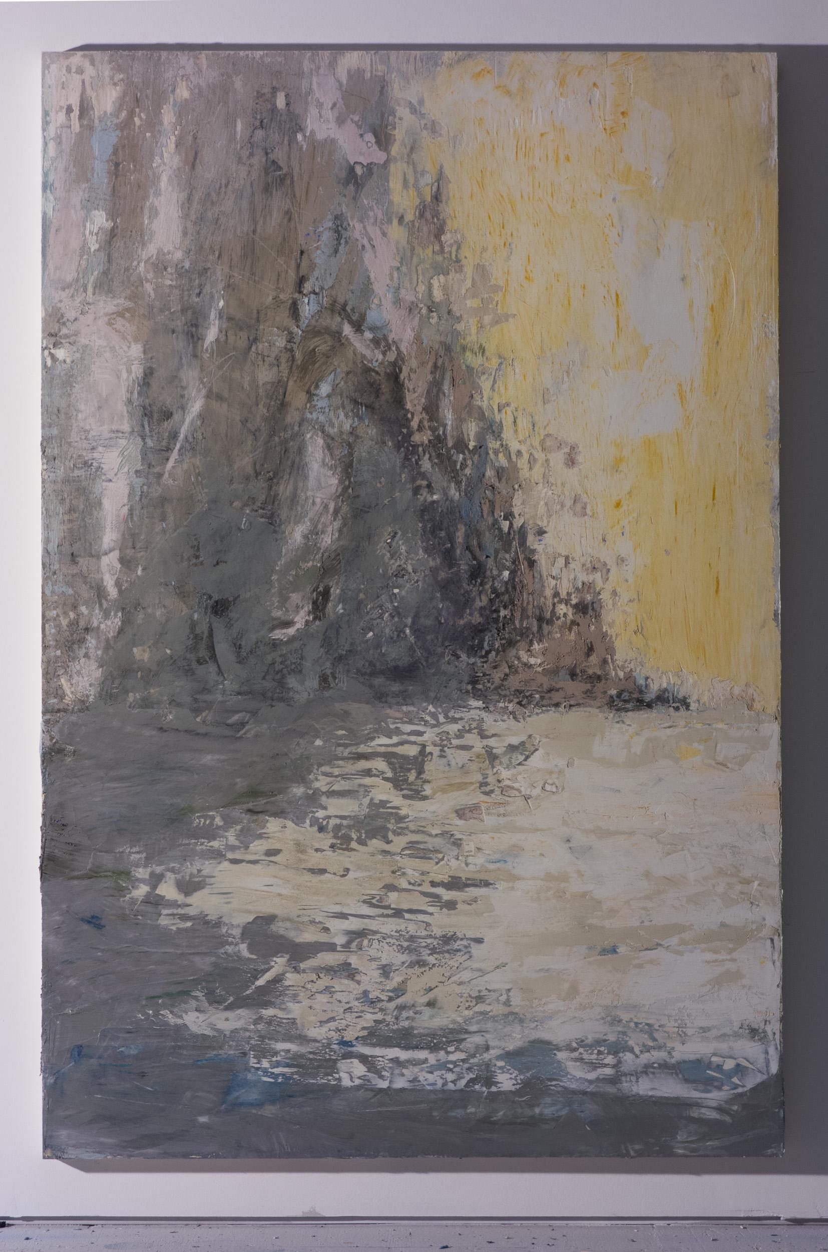 Shelley Vanderbyl - Shoreline (Side Light) - 2016 - Fresco on Panel - 40x60.jpg