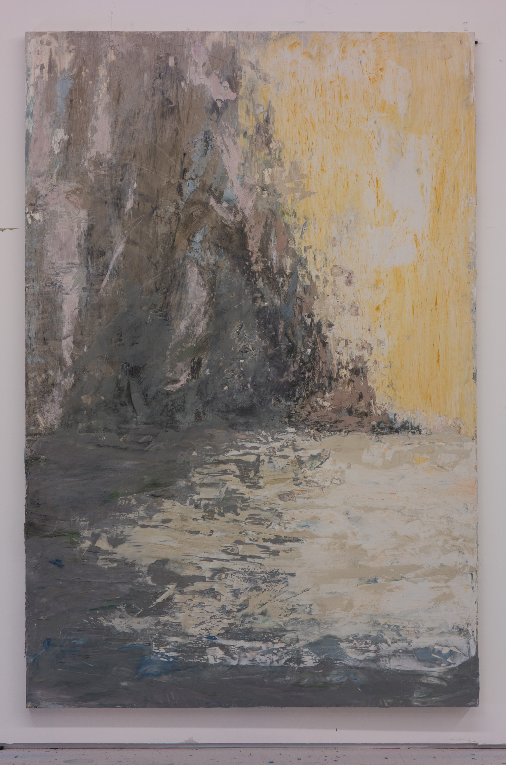 Shelley Vanderbyl - Shoreline - 2016 - Fresco on Panel - 40x60.jpg