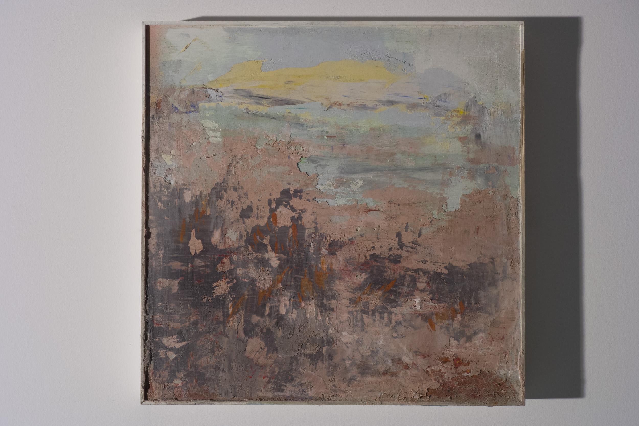 Shelley Vanderbyl - Fireweed (Side Light) - 2016 - Fresco on Panel - 16x16.jpg