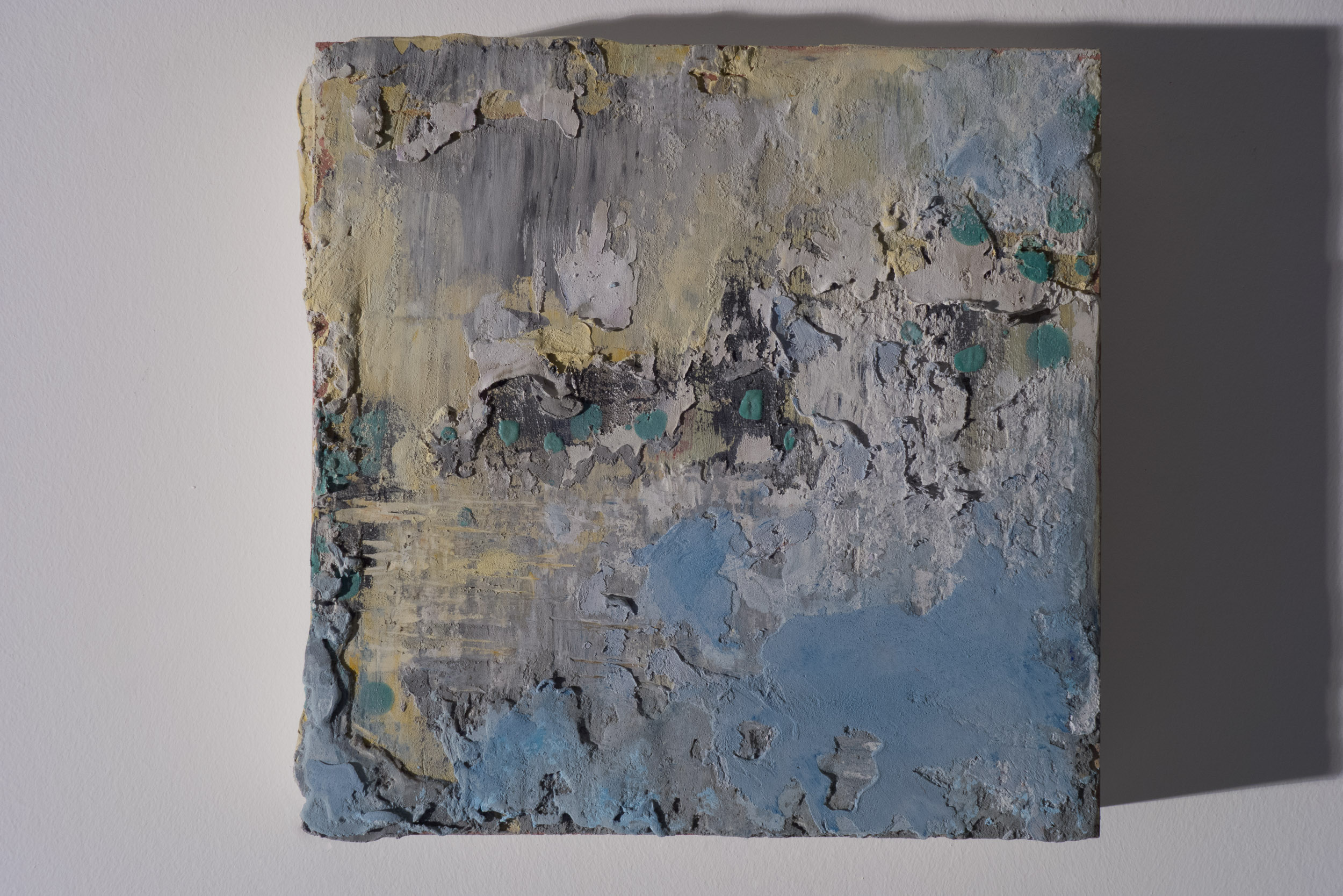 Shelley Vanderbyl - Abstract From Ashes 2 (Side Light) - 2016 - Fresco on Panel - 8x8.jpg