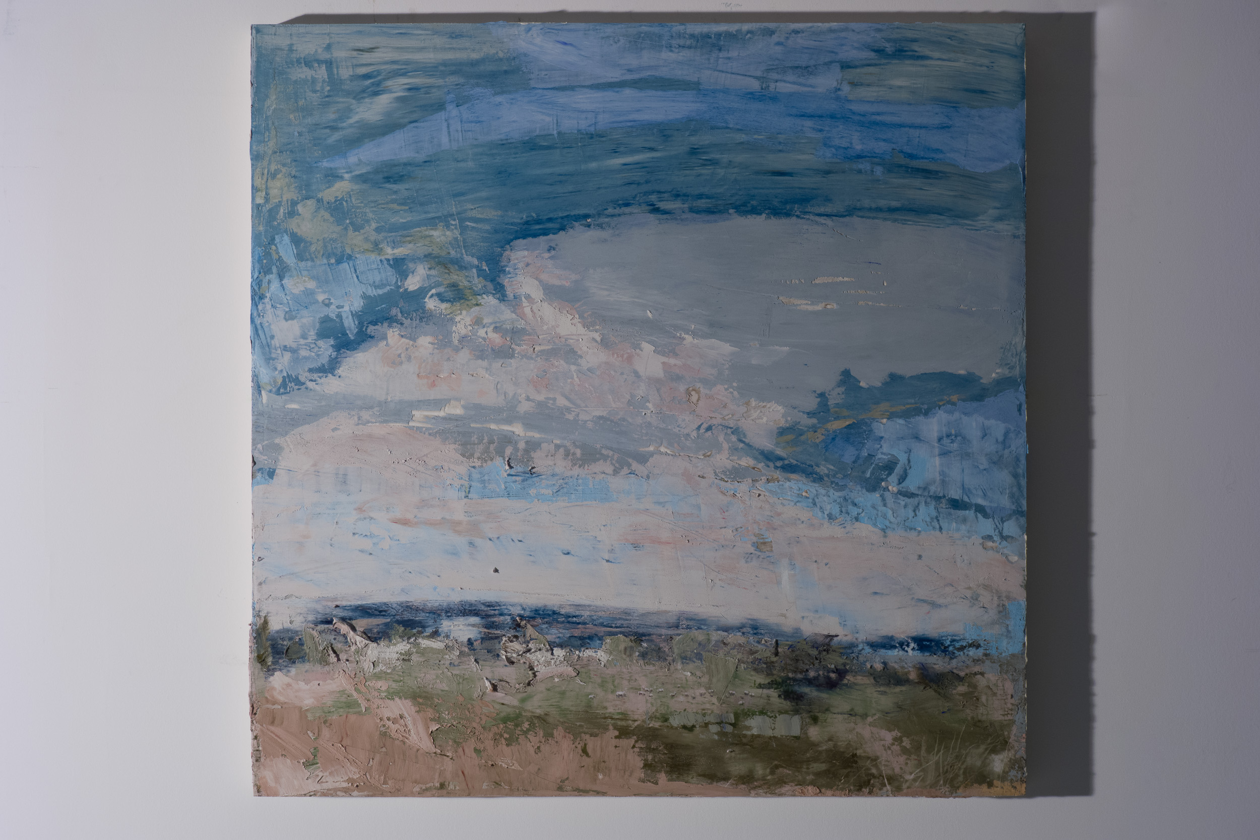 Shelley Vanderbyl - A View From Slightly Higher (Side Light) - 2016 - Fresco on Panel - 36x36.jpg