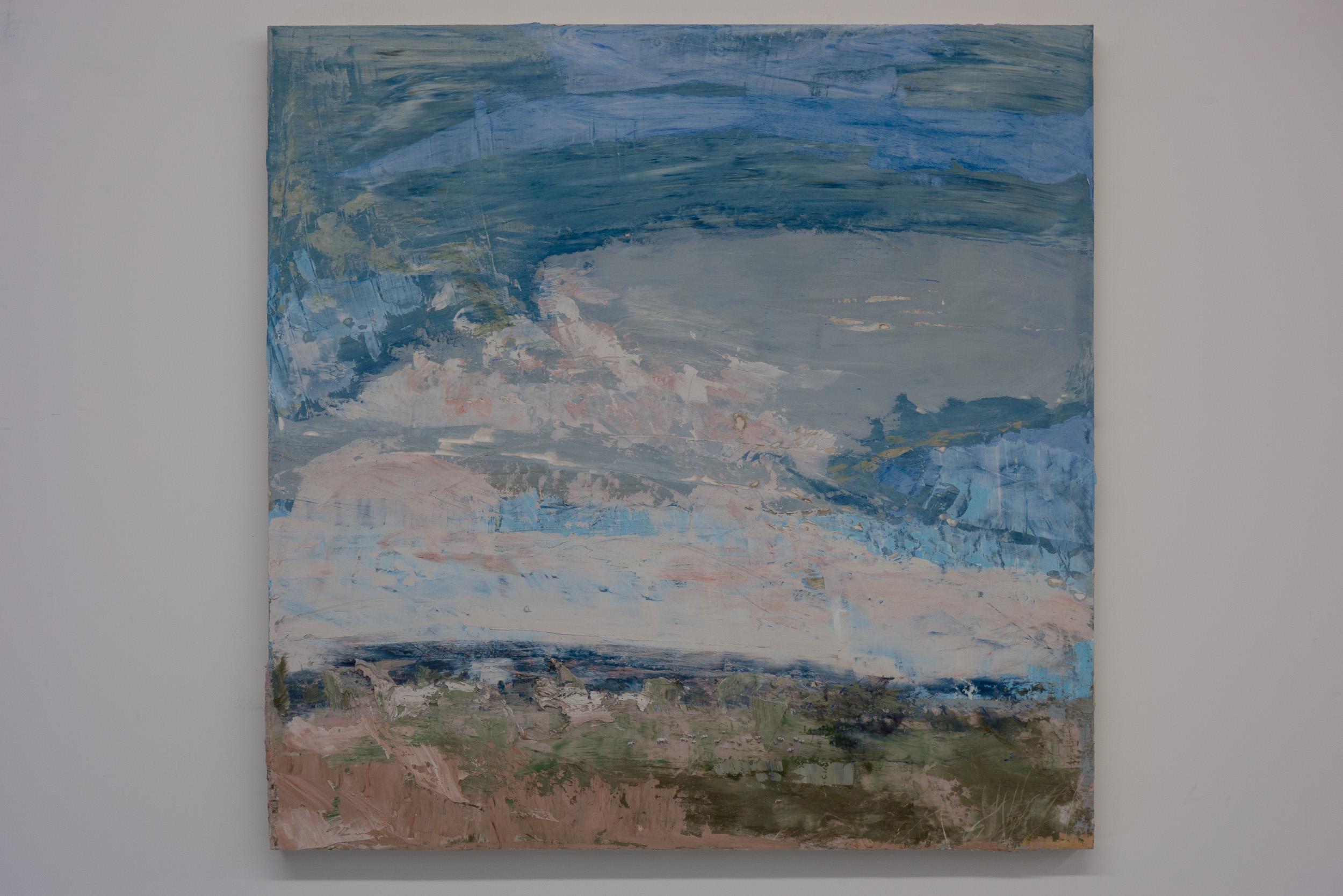 Shelley Vanderbyl - A View From Slightly Higher - 2016 - Fresco on Panel - 36x36.jpg