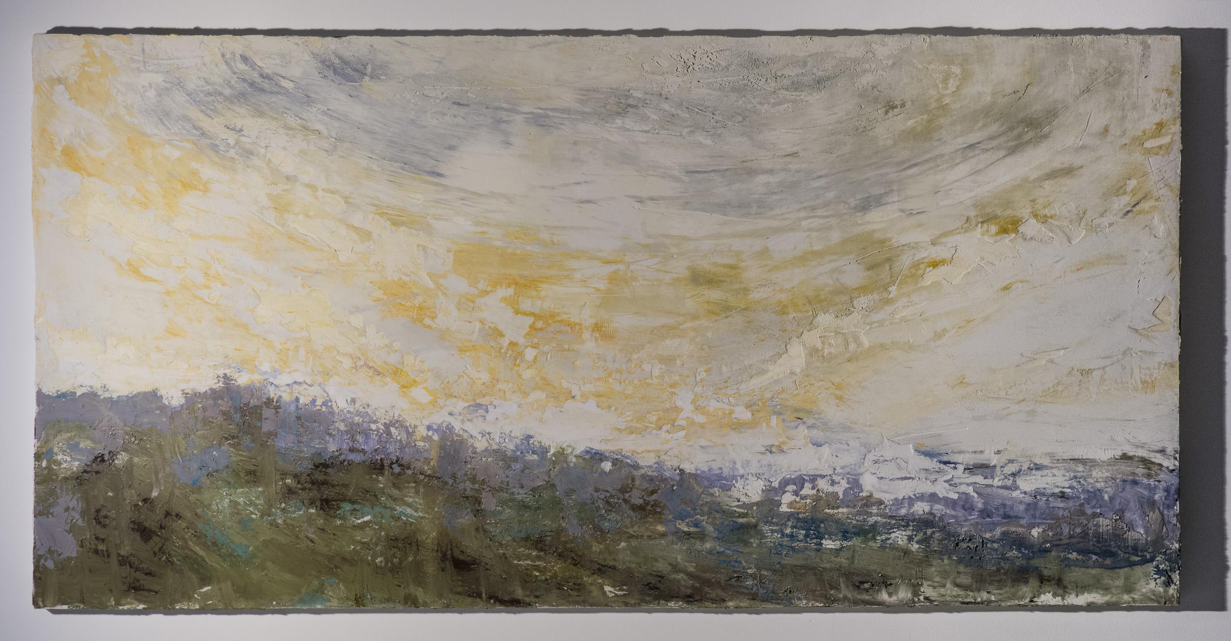 Shelley Vanderbyl - Facing a Wider Dawn (Side Light) - 2016 - Fresco on Panel - 48x96.jpg