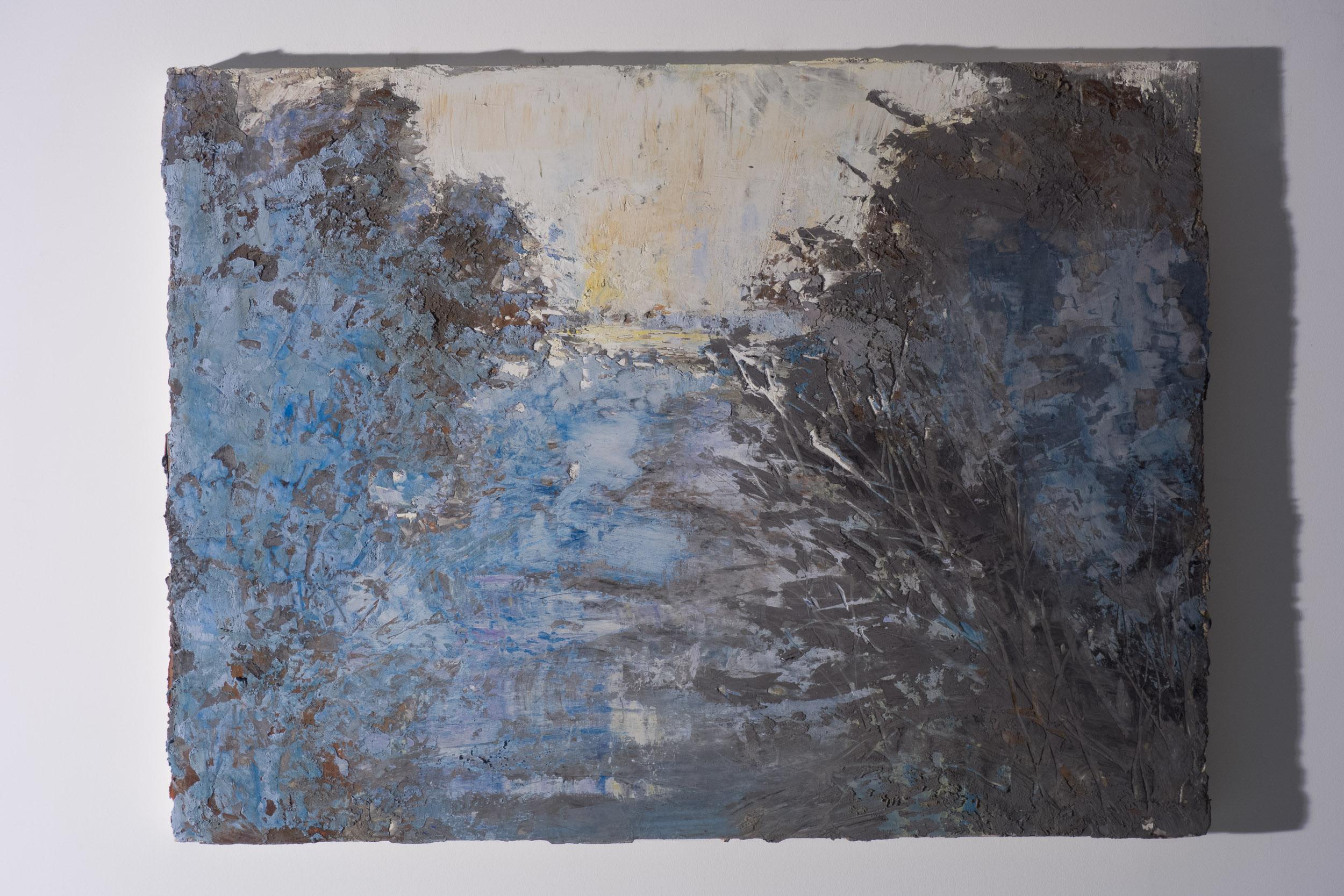 Shelley Vanderbyl - Breaking Branches (Side Light) - 2016 - Fresco on Panel - 30x40.jpg