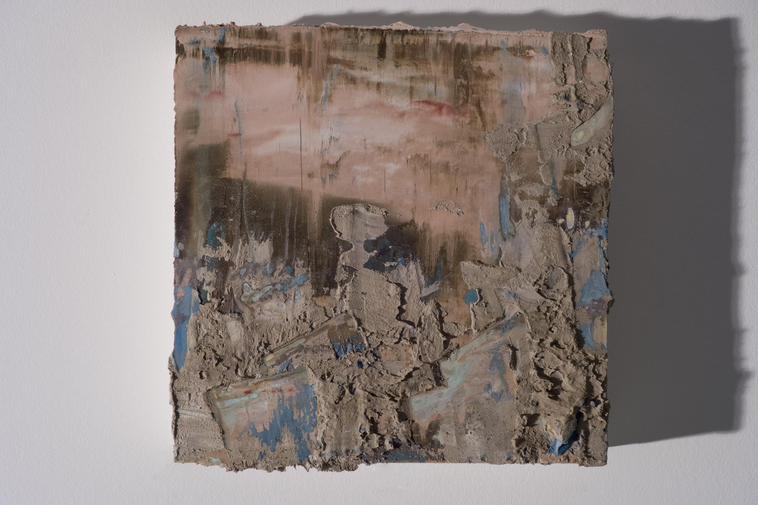 Shelley Vanderbyl - Depth (Side Light) - 2016 - Fresco on Panel - 8x8.jpg
